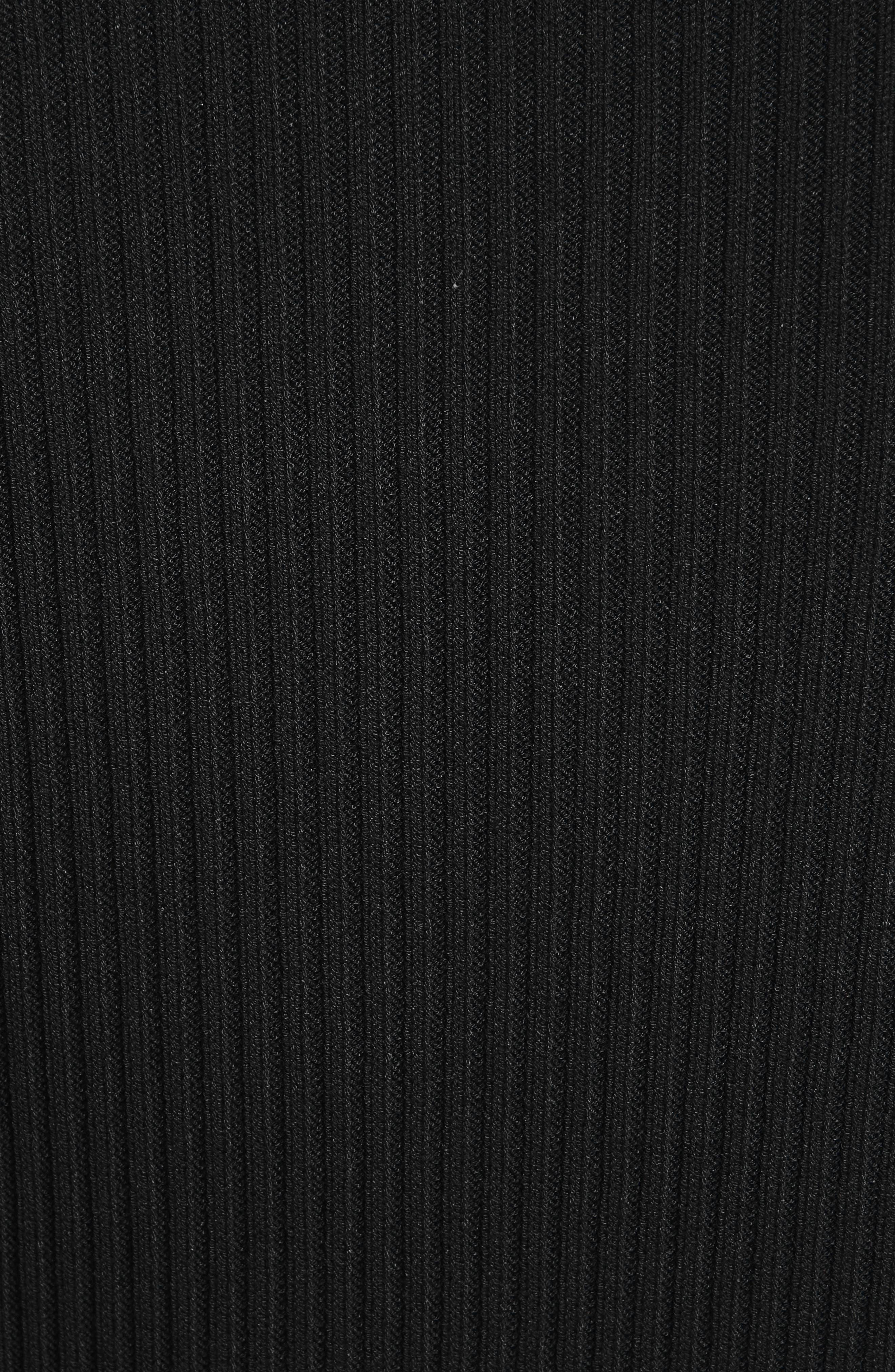 Collection Knit Keyhole Turtleneck Dress,                             Alternate thumbnail 5, color,                             001