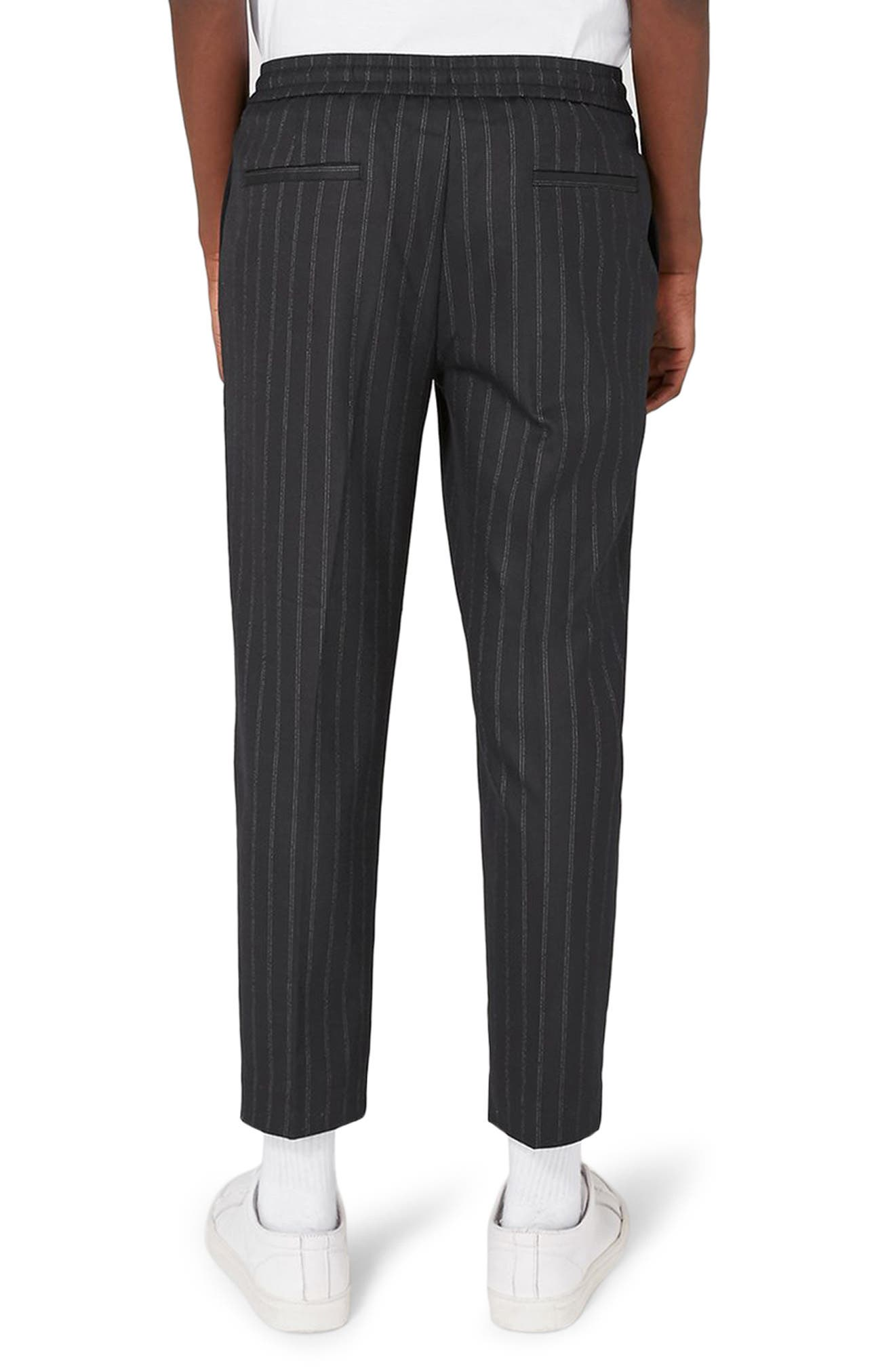 Pinstripe Crop Smart Joggers,                             Alternate thumbnail 2, color,                             401