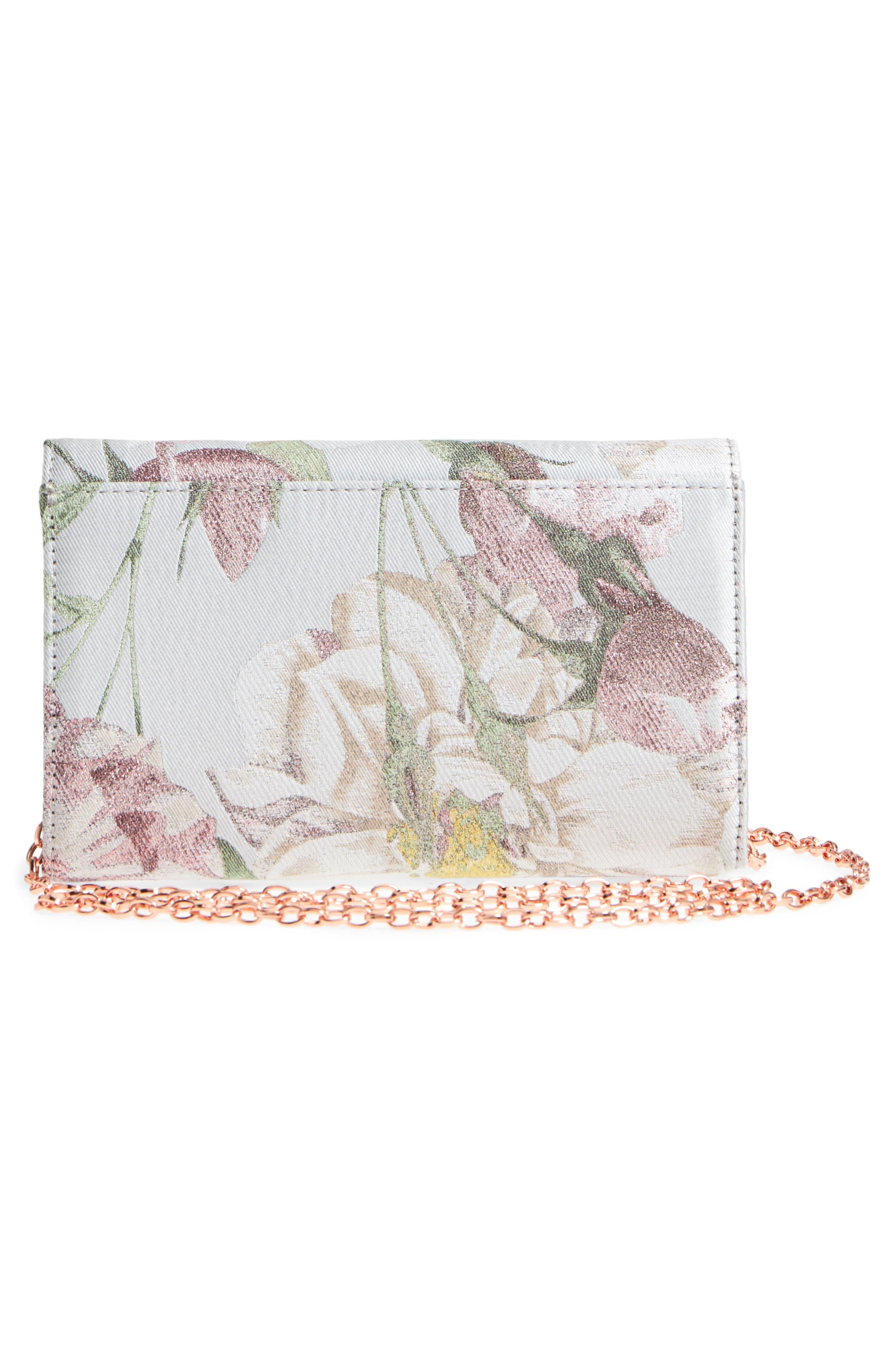 Erika - Metallic Jacquard Evening Bag,                             Alternate thumbnail 3, color,                             030