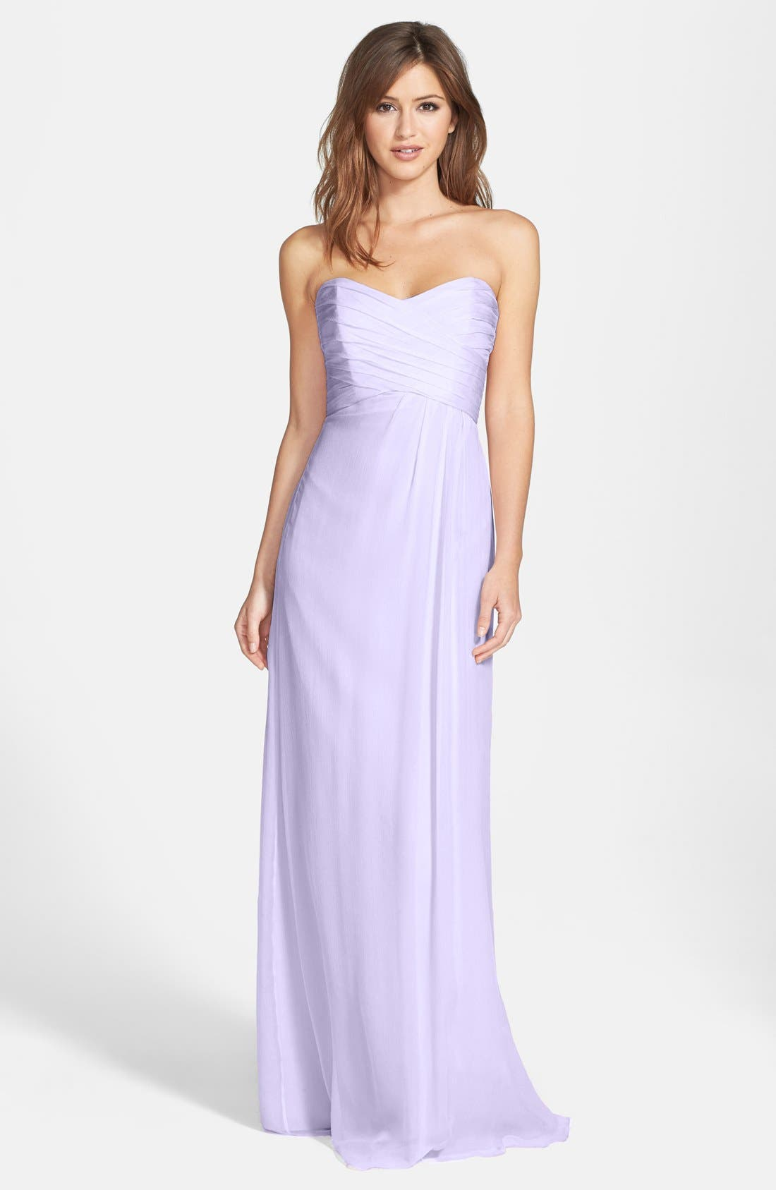 Strapless Crinkle Chiffon Gown,                             Main thumbnail 12, color,
