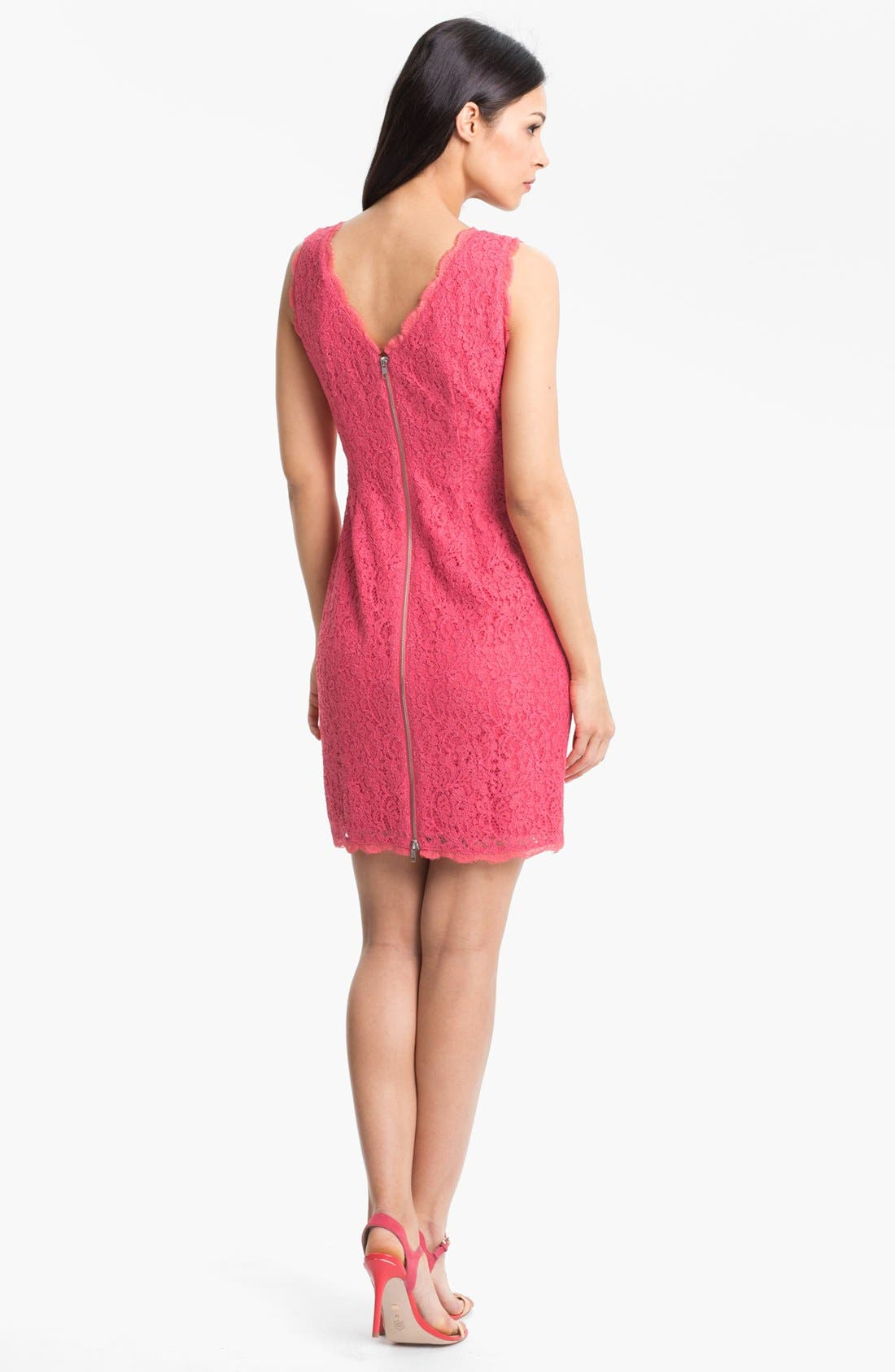 Boatneck Lace Sheath Dress,                             Alternate thumbnail 120, color,