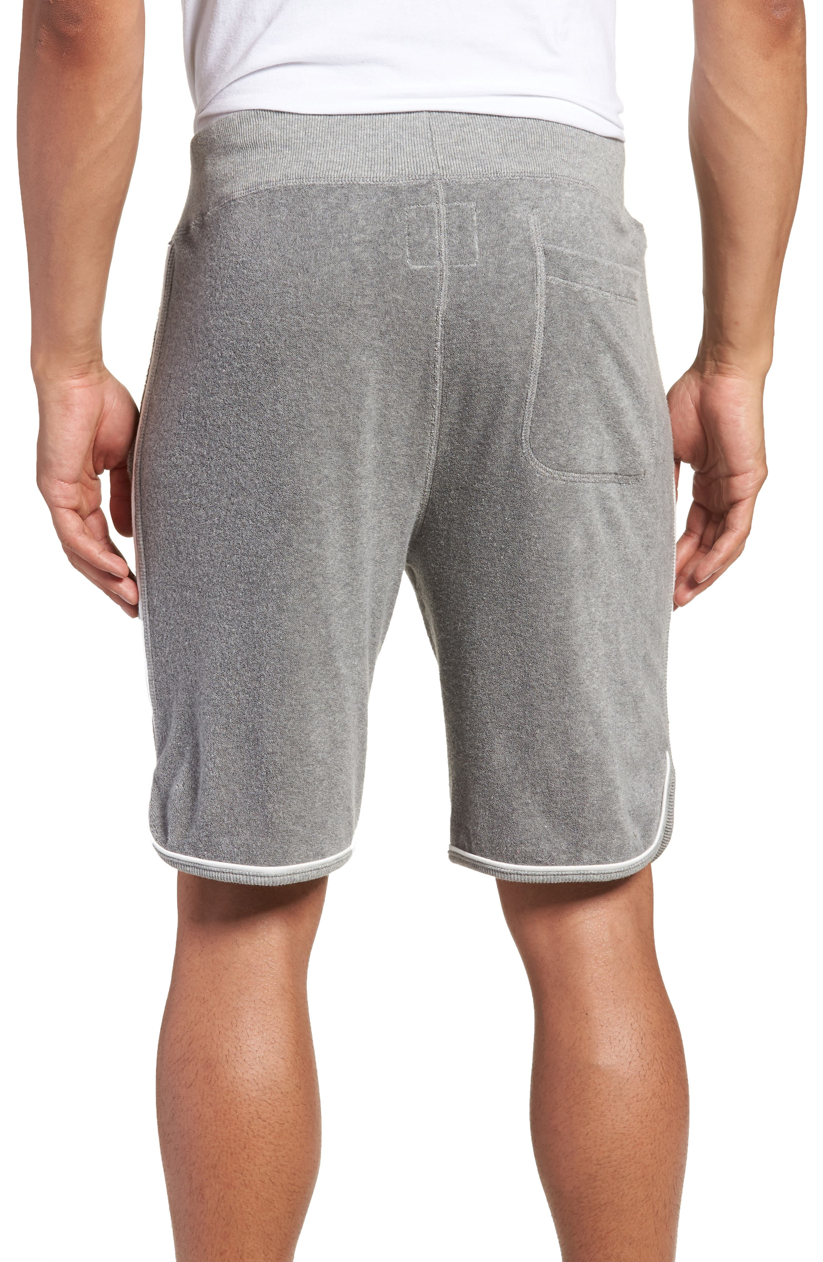 x Champion Piped Terry Shorts,                             Alternate thumbnail 2, color,                             GREY