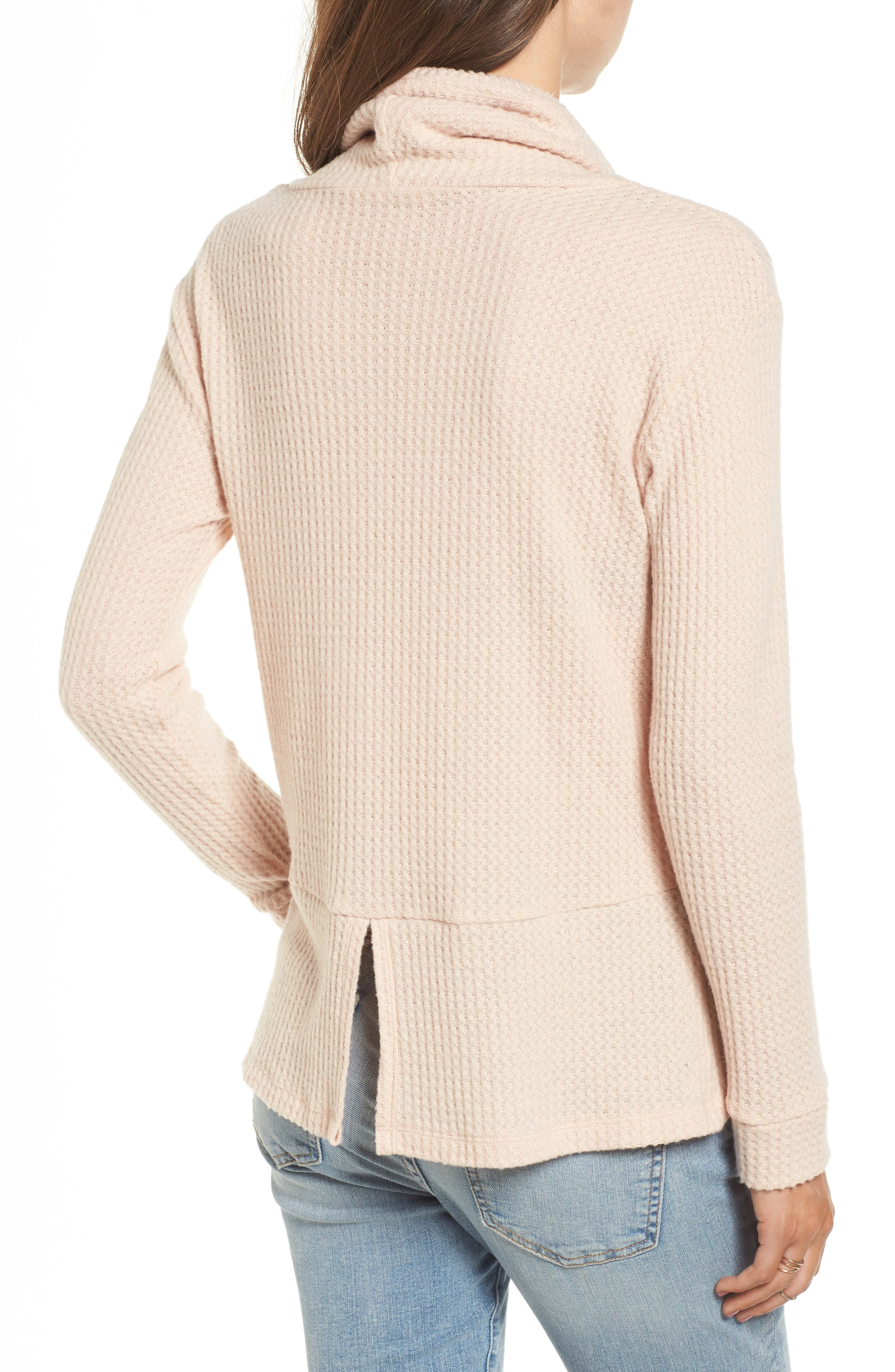 Cowl Neck Waffle Knit Top,                             Alternate thumbnail 7, color,
