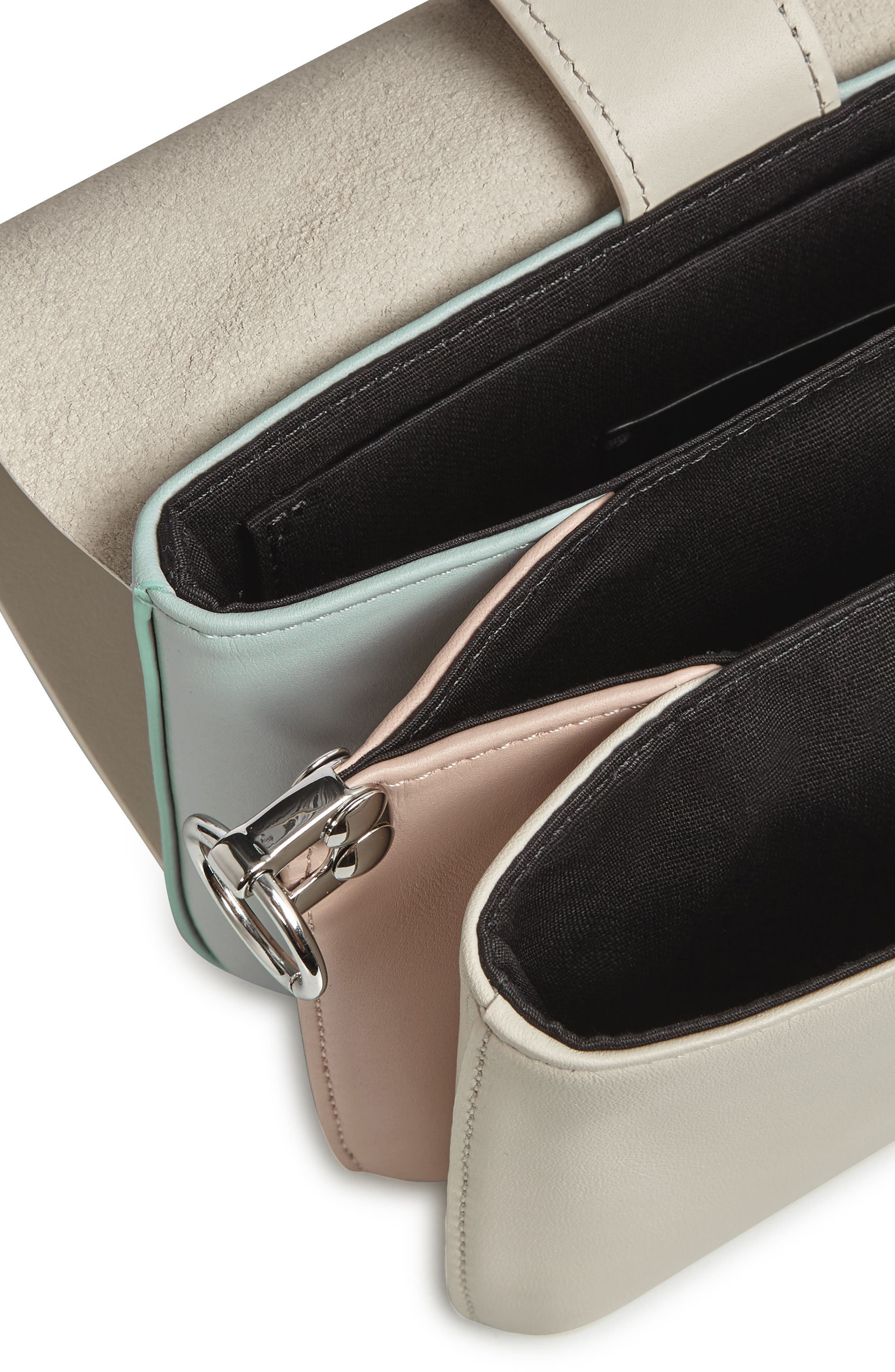 Zep Colorblock Leather Shoulder Bag,                             Alternate thumbnail 3, color,                             115