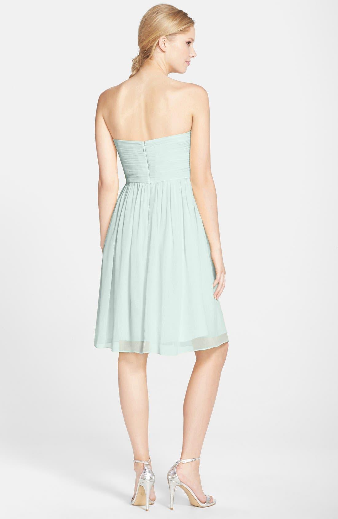 'Morgan' Strapless Silk Chiffon Dress,                             Alternate thumbnail 110, color,