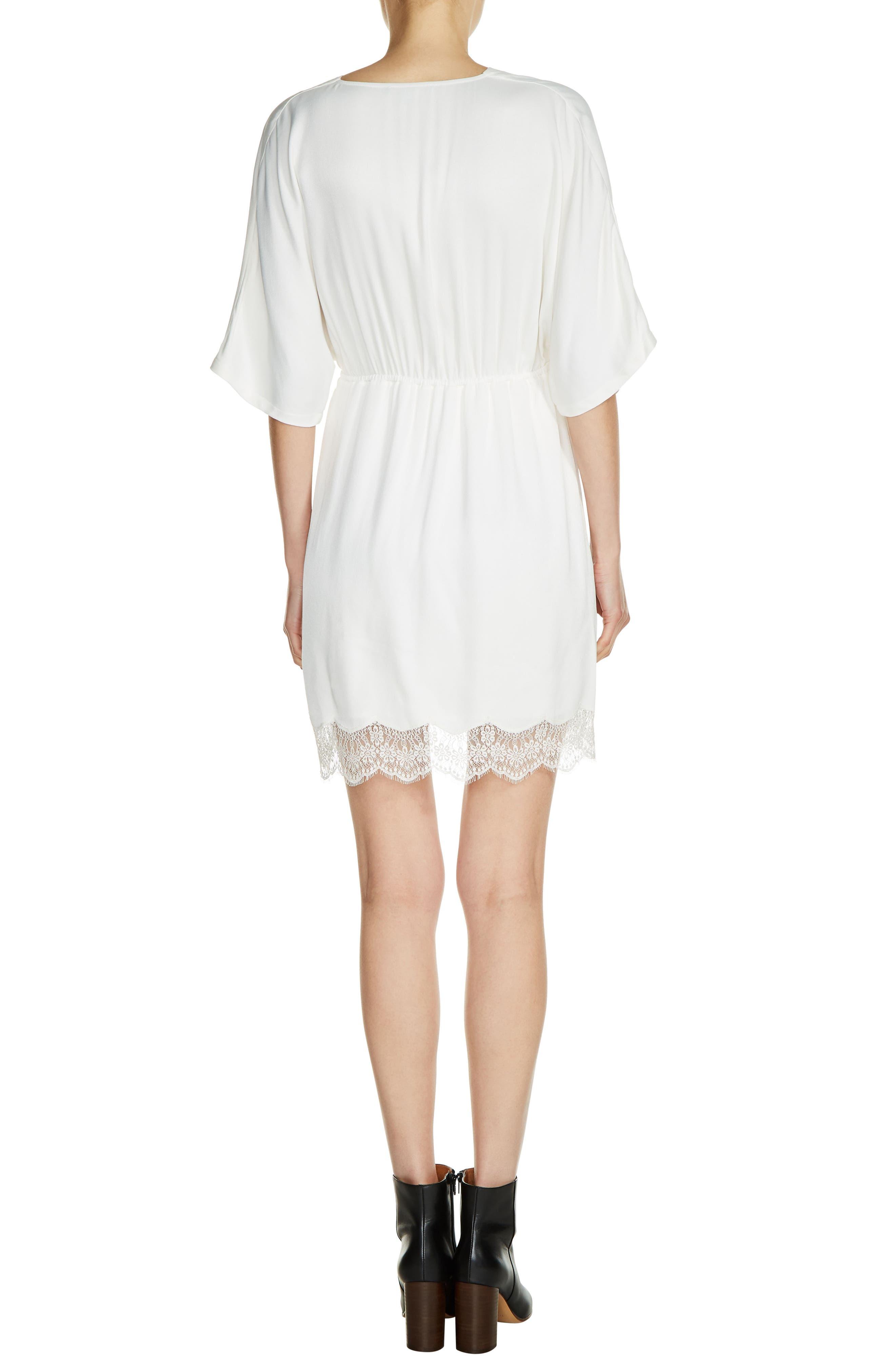 Lace Trim V-Neck Dress,                             Alternate thumbnail 2, color,                             900