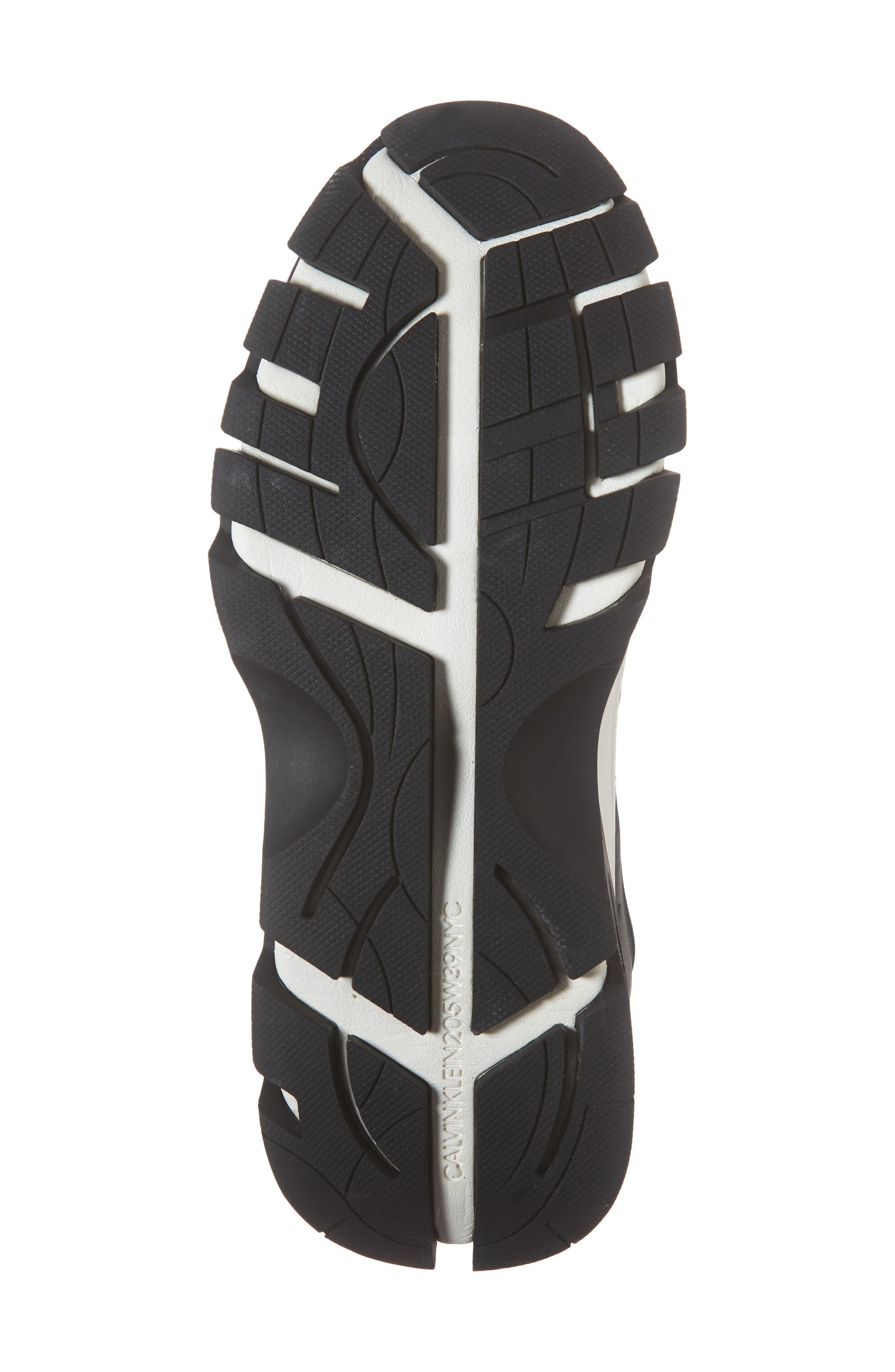 Carlos 10 Snapback Runner Sneaker,                             Alternate thumbnail 6, color,                             BLACK/ WHITE