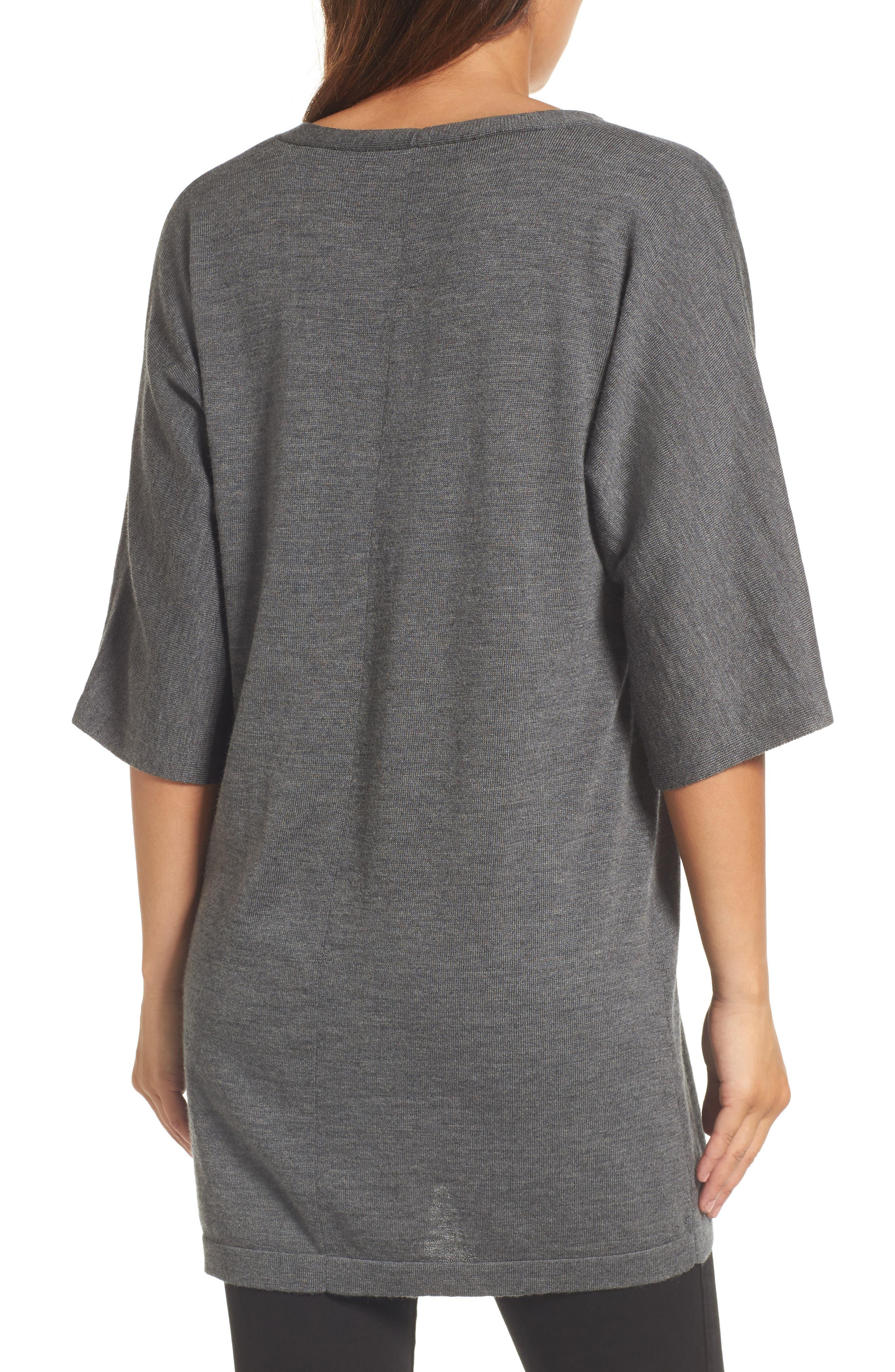 Merino Wool Tunic Sweater,                             Alternate thumbnail 10, color,