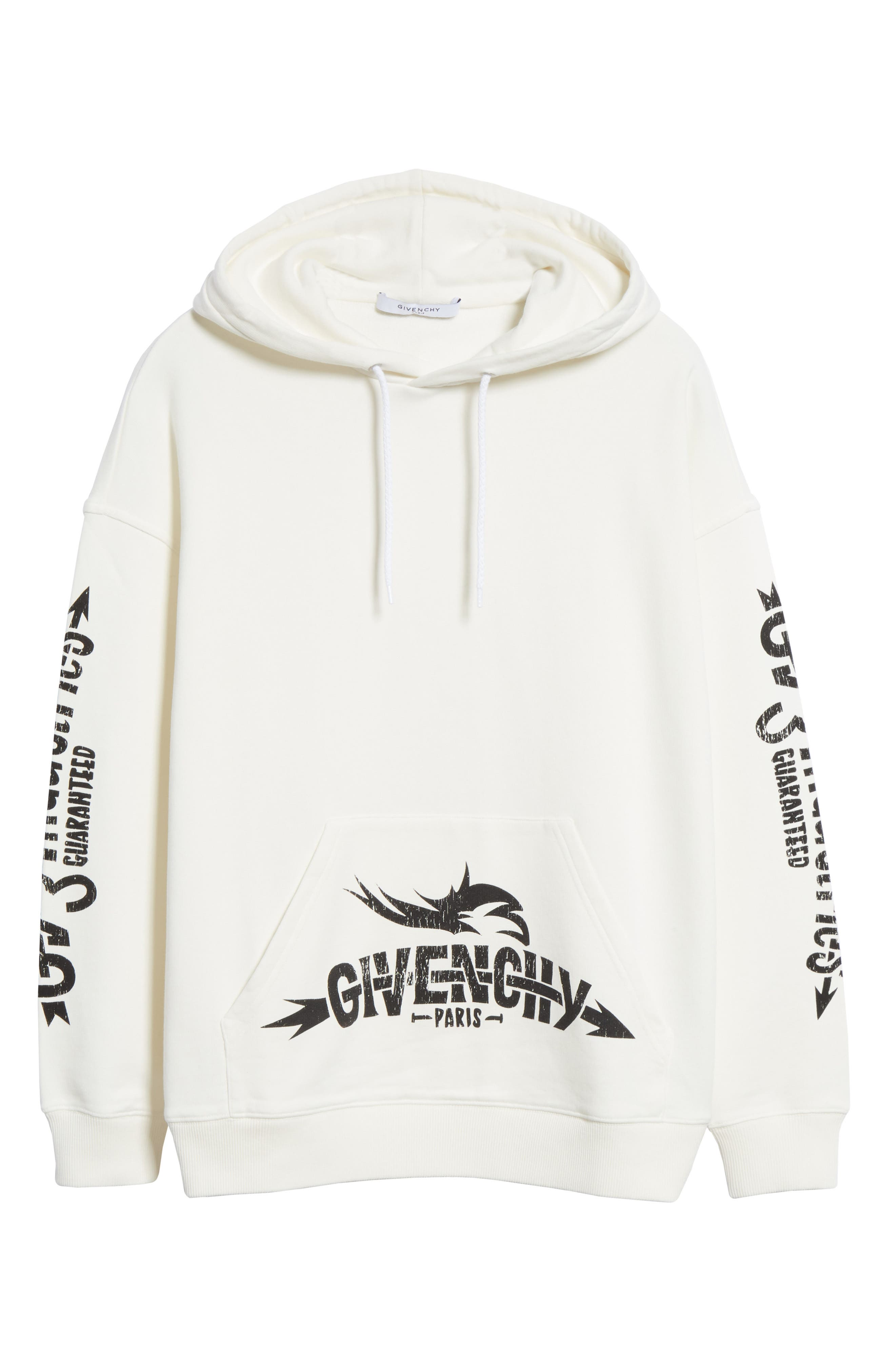 GIVENCHY,                             Taurus Hoodie,                             Alternate thumbnail 5, color,                             OFF WHITE