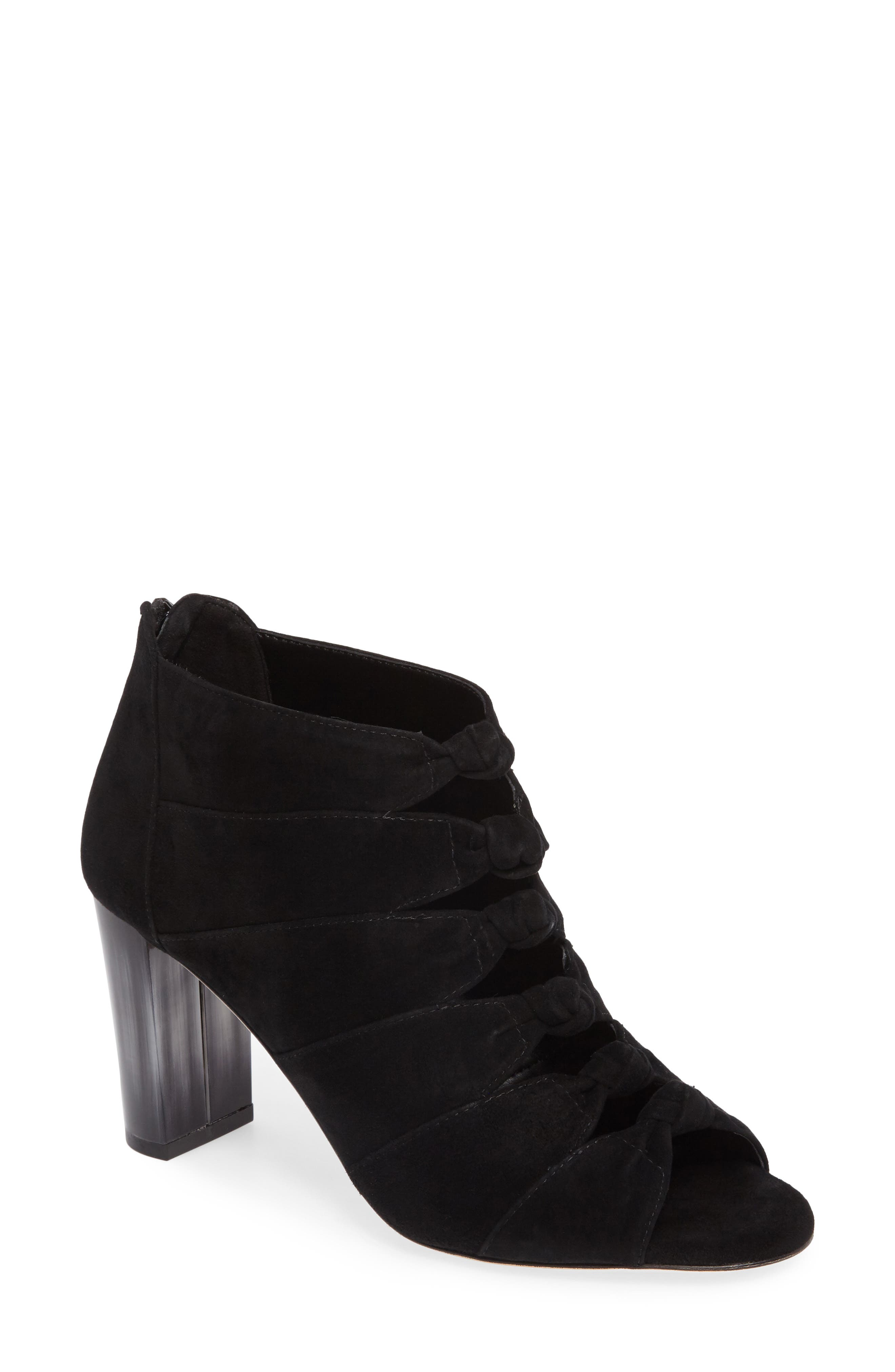 Betsy Open Toe Bootie,                             Main thumbnail 1, color,                             001