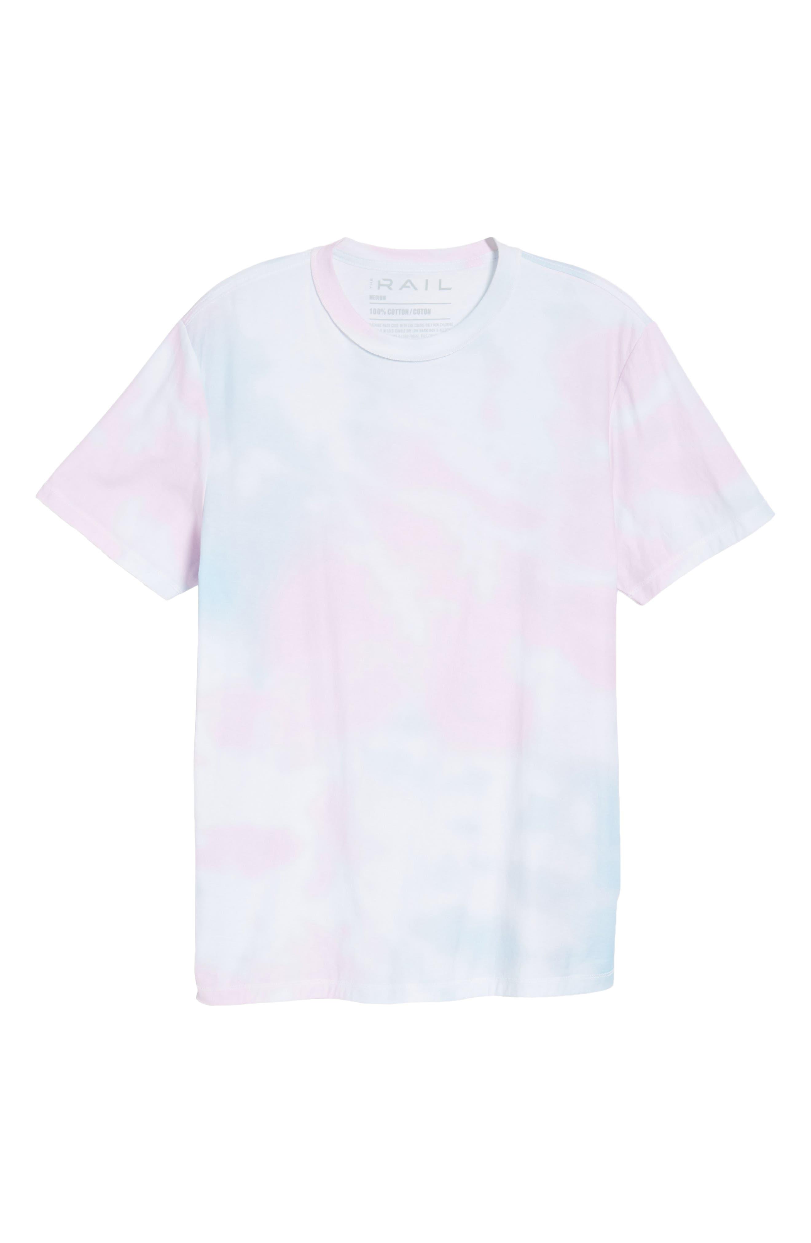 Reverse Tie Dye T-Shirt,                             Alternate thumbnail 6, color,                             100