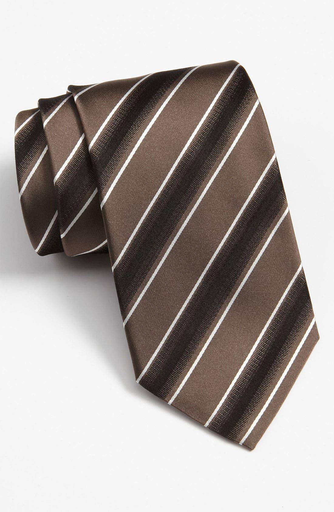 Black Woven Silk Tie,                         Main,                         color, 201