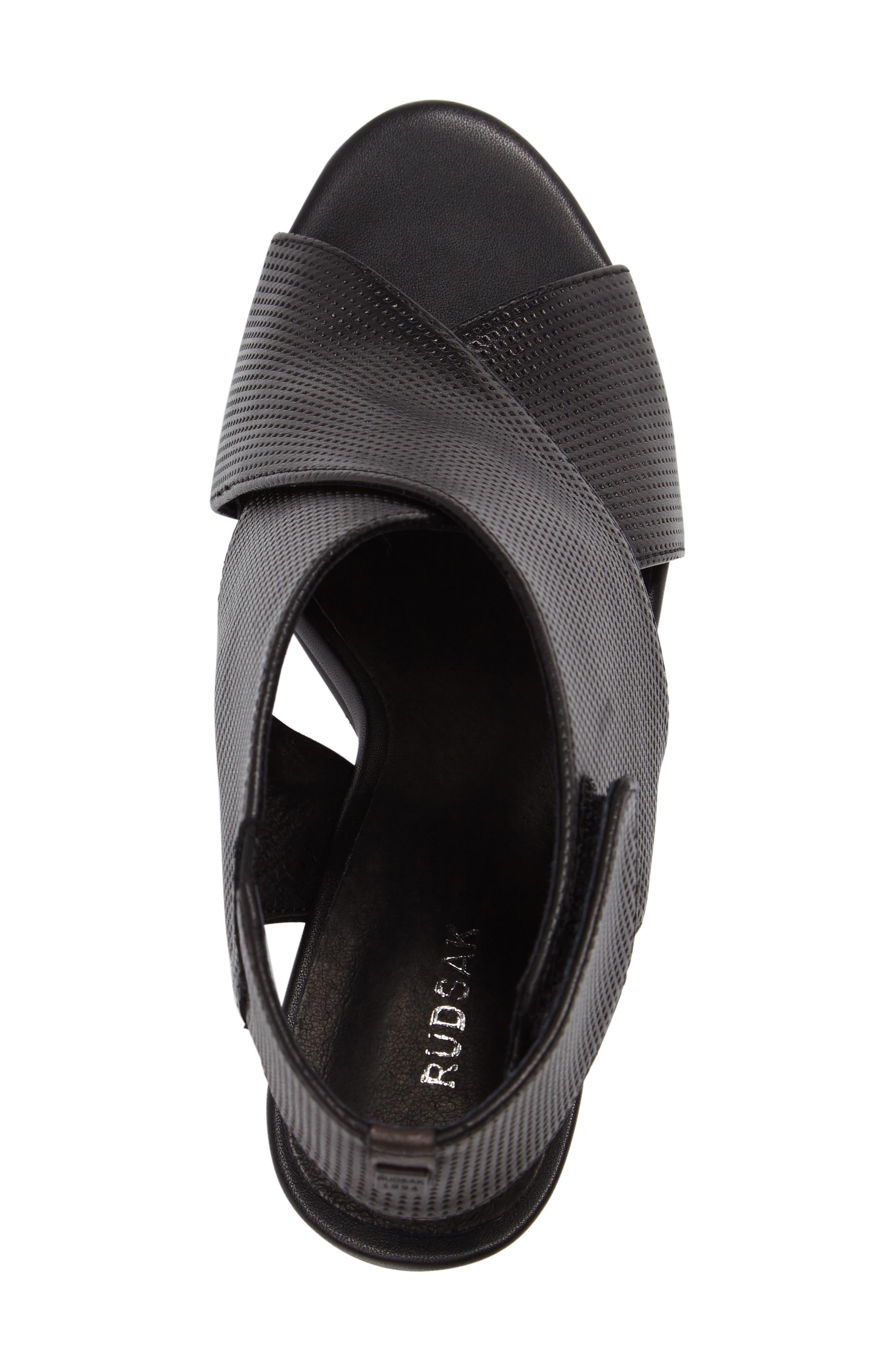 Benedetta Block Heel Sandal,                             Alternate thumbnail 5, color,                             001