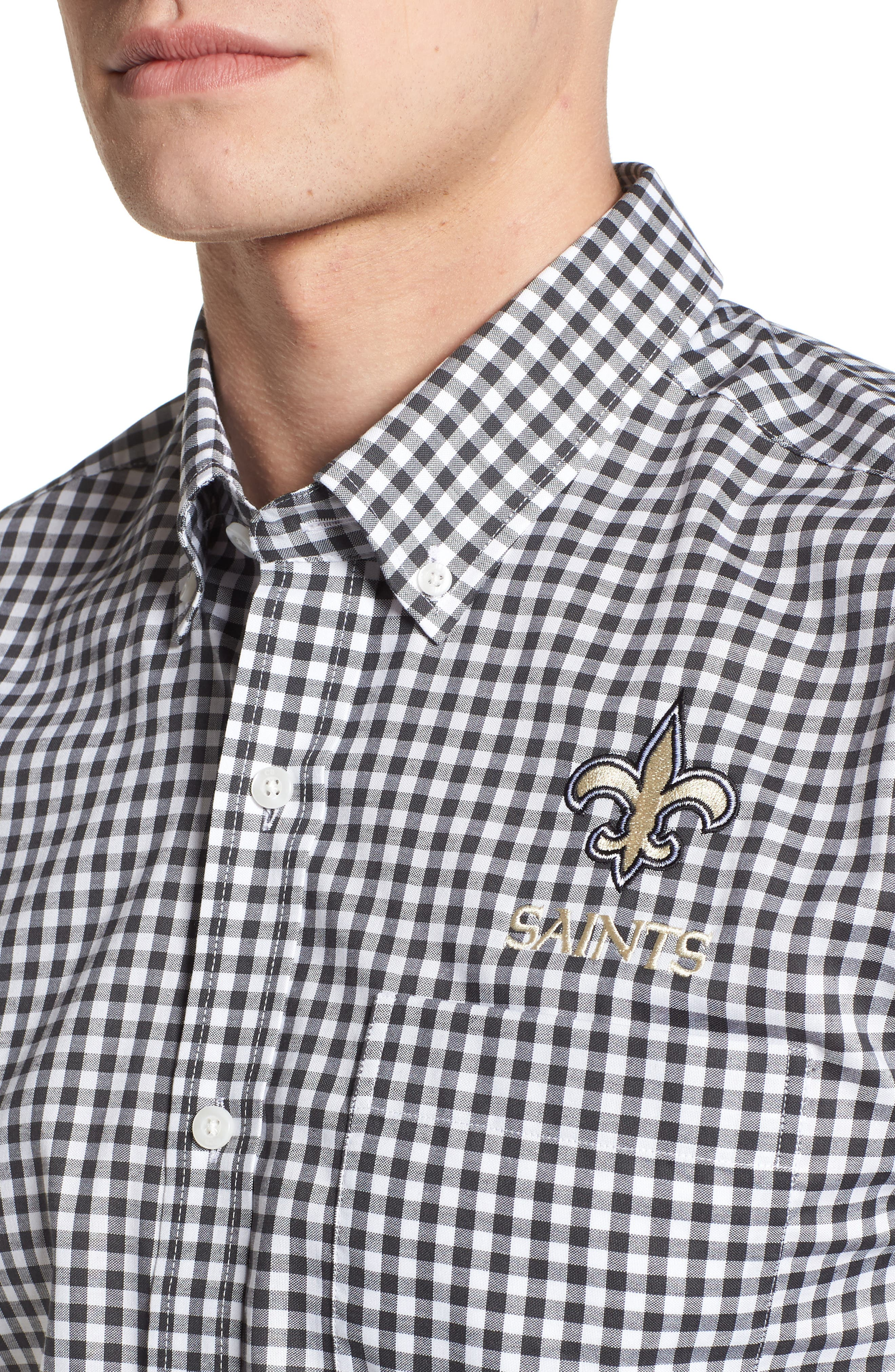 League New Orleans Saints Regular Fit Shirt,                             Alternate thumbnail 4, color,                             CHARCOAL