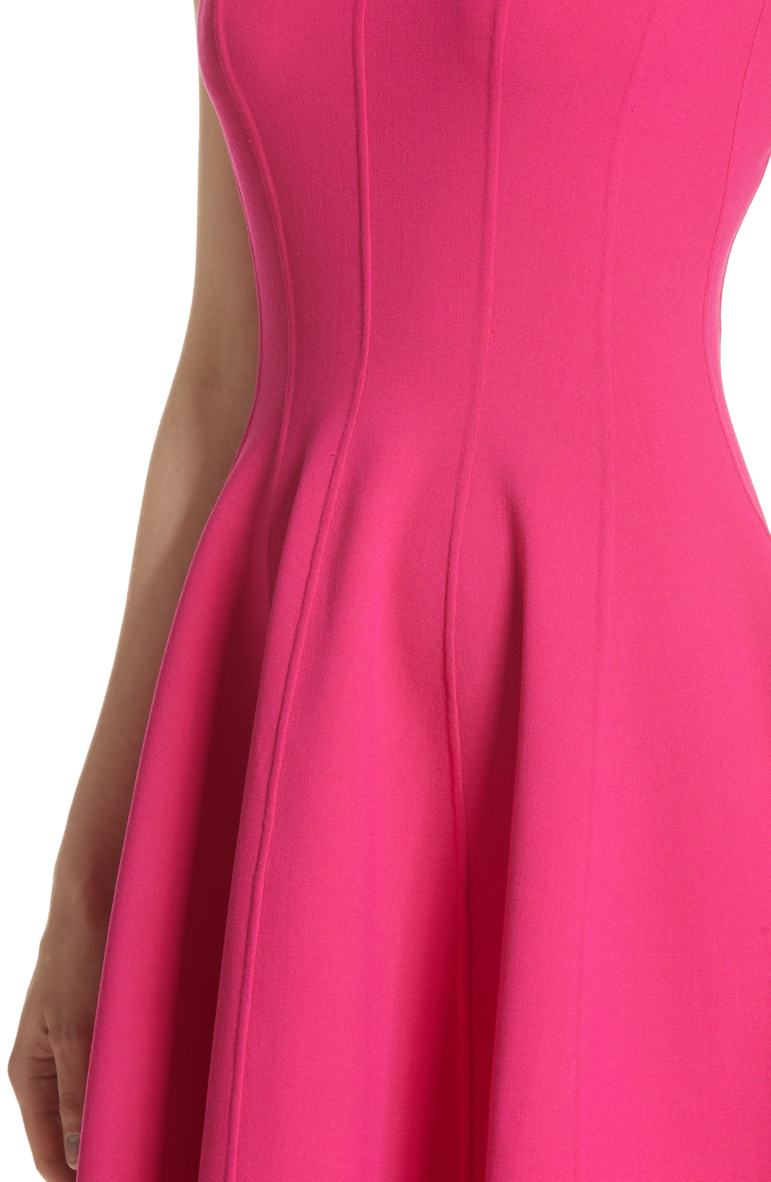 Stretch Wool Bell Dress,                             Alternate thumbnail 4, color,                             657