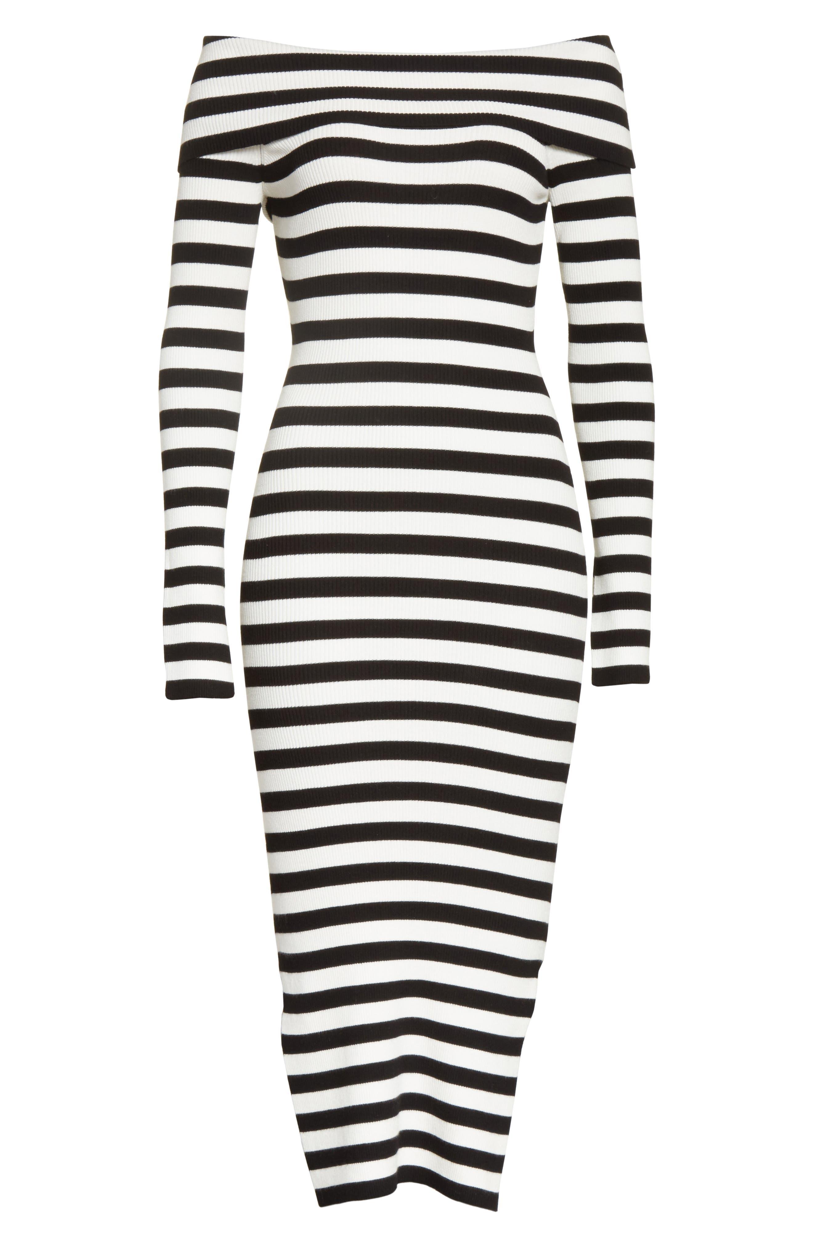 Off the Shoulder Ribbed Maxi Dress,                             Alternate thumbnail 12, color,