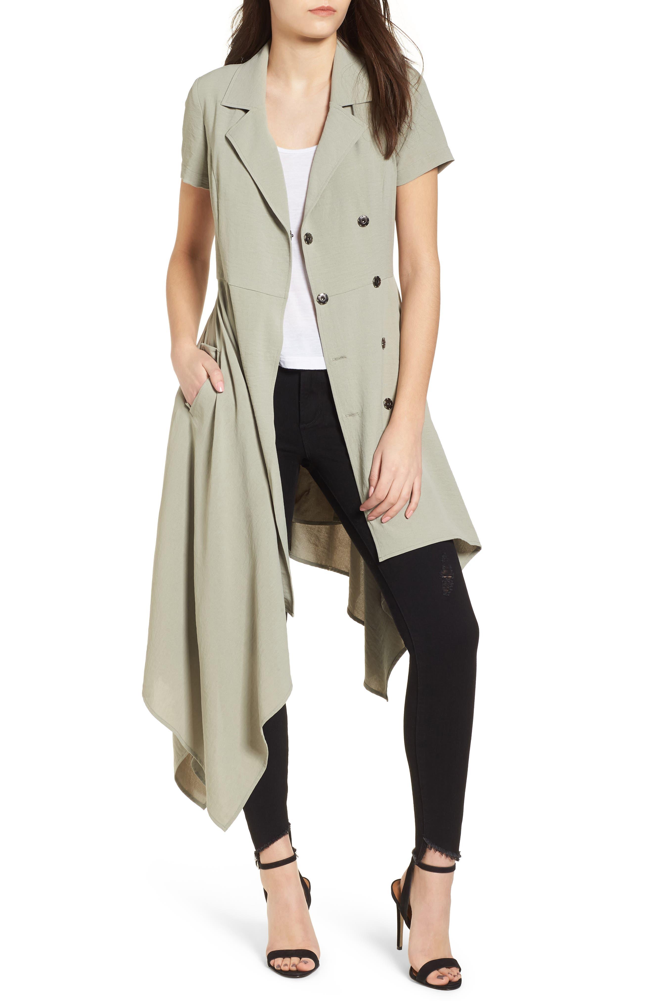 Chriselle x J.O.A. Asymmetrical Trench Dress,                             Alternate thumbnail 3, color,                             300
