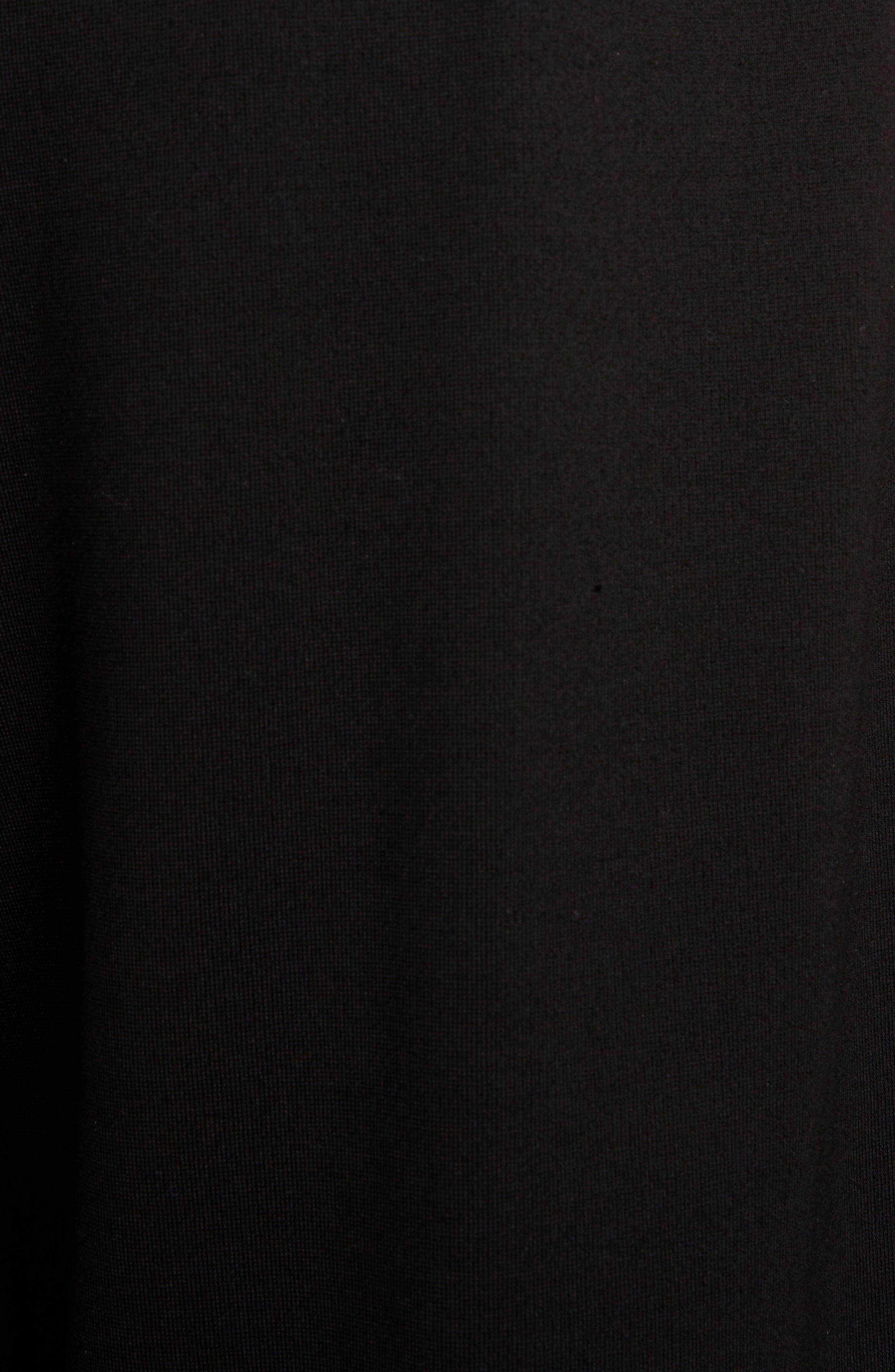 Lace Trim Culottes,                             Alternate thumbnail 5, color,                             BLACK