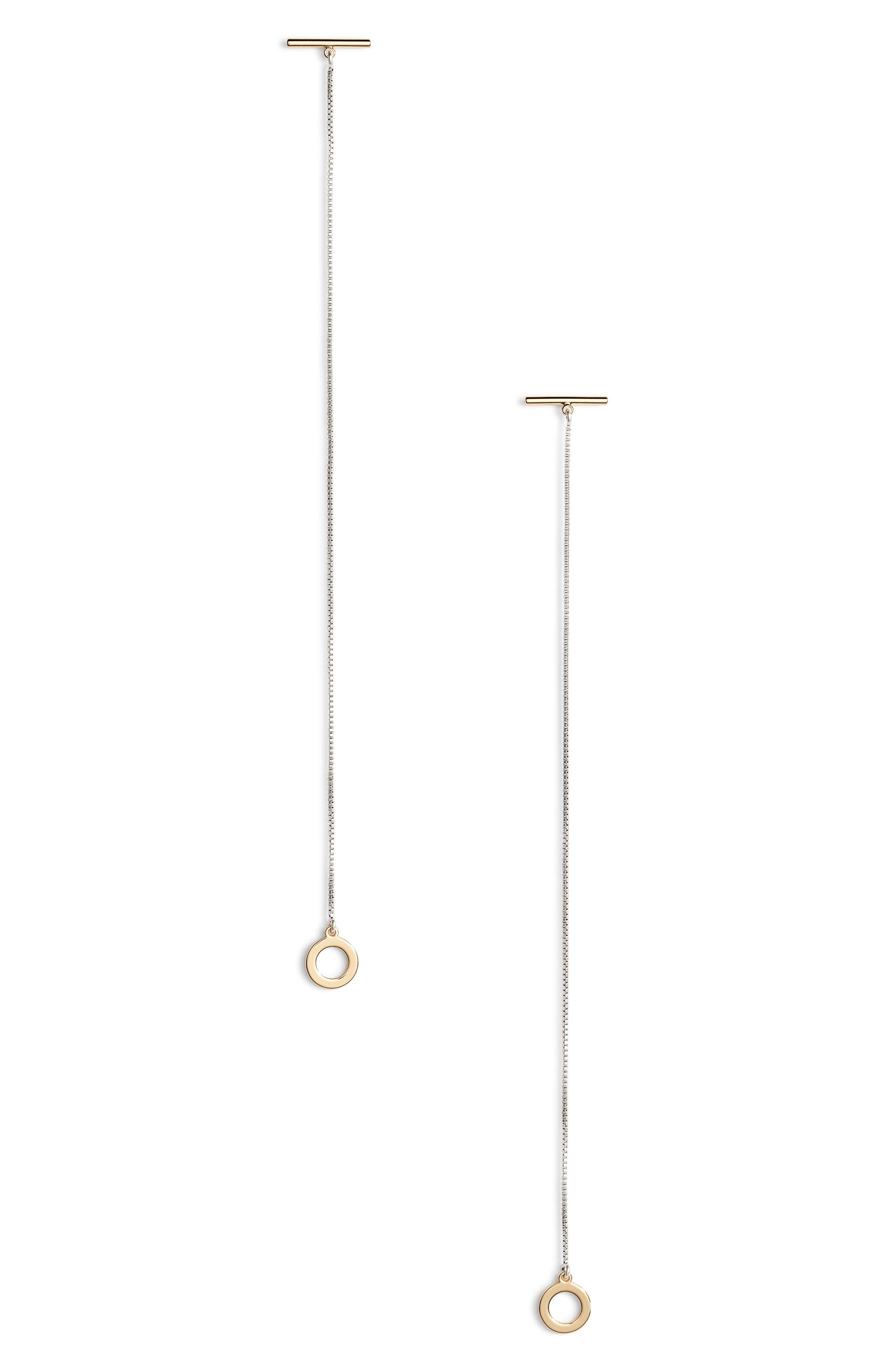 Mimi Shoulder Duster Earrings,                         Main,                         color, TWO-TONE