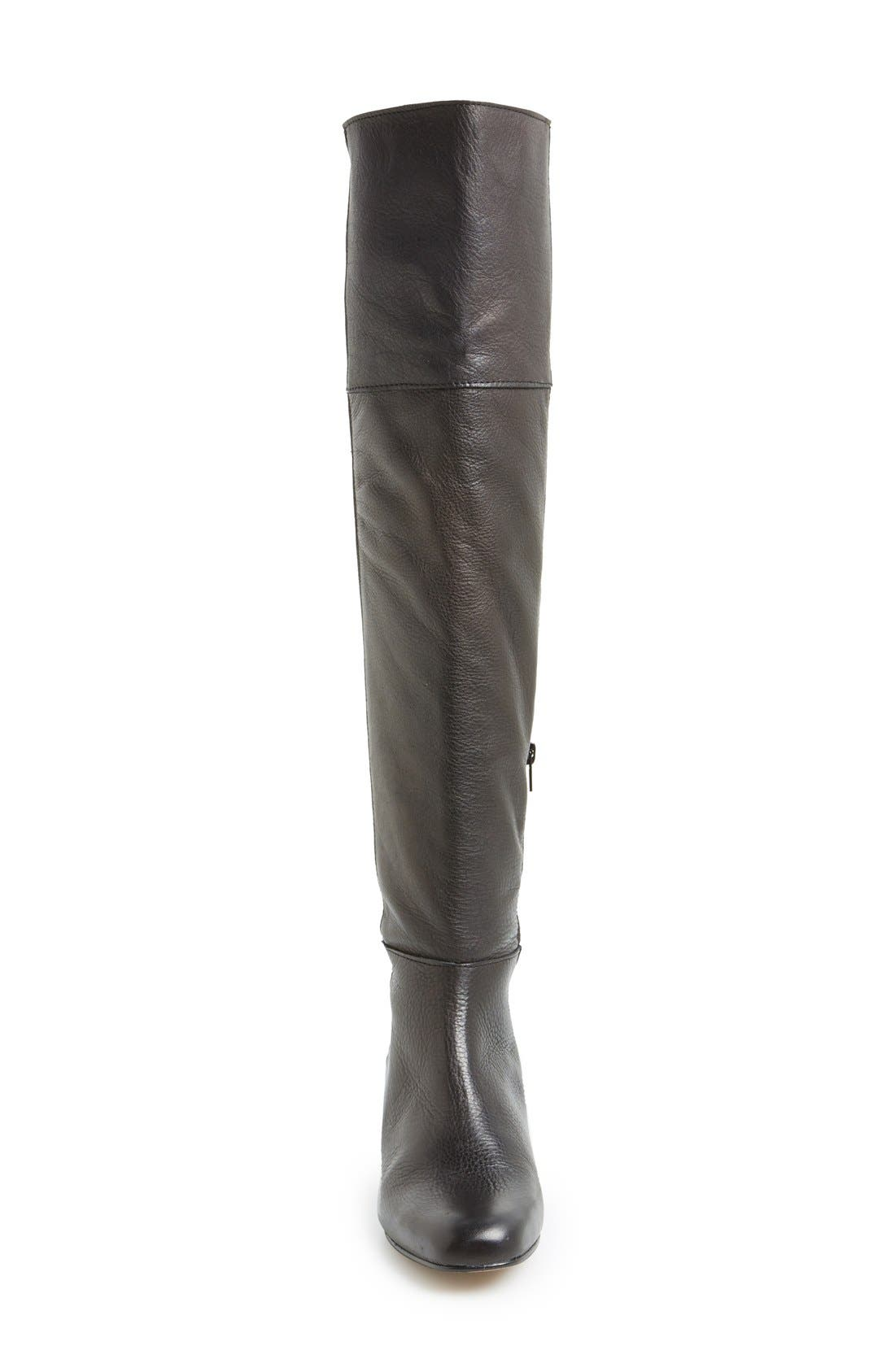 'Canada' Over the Knee Leather Boot,                             Alternate thumbnail 4, color,                             001