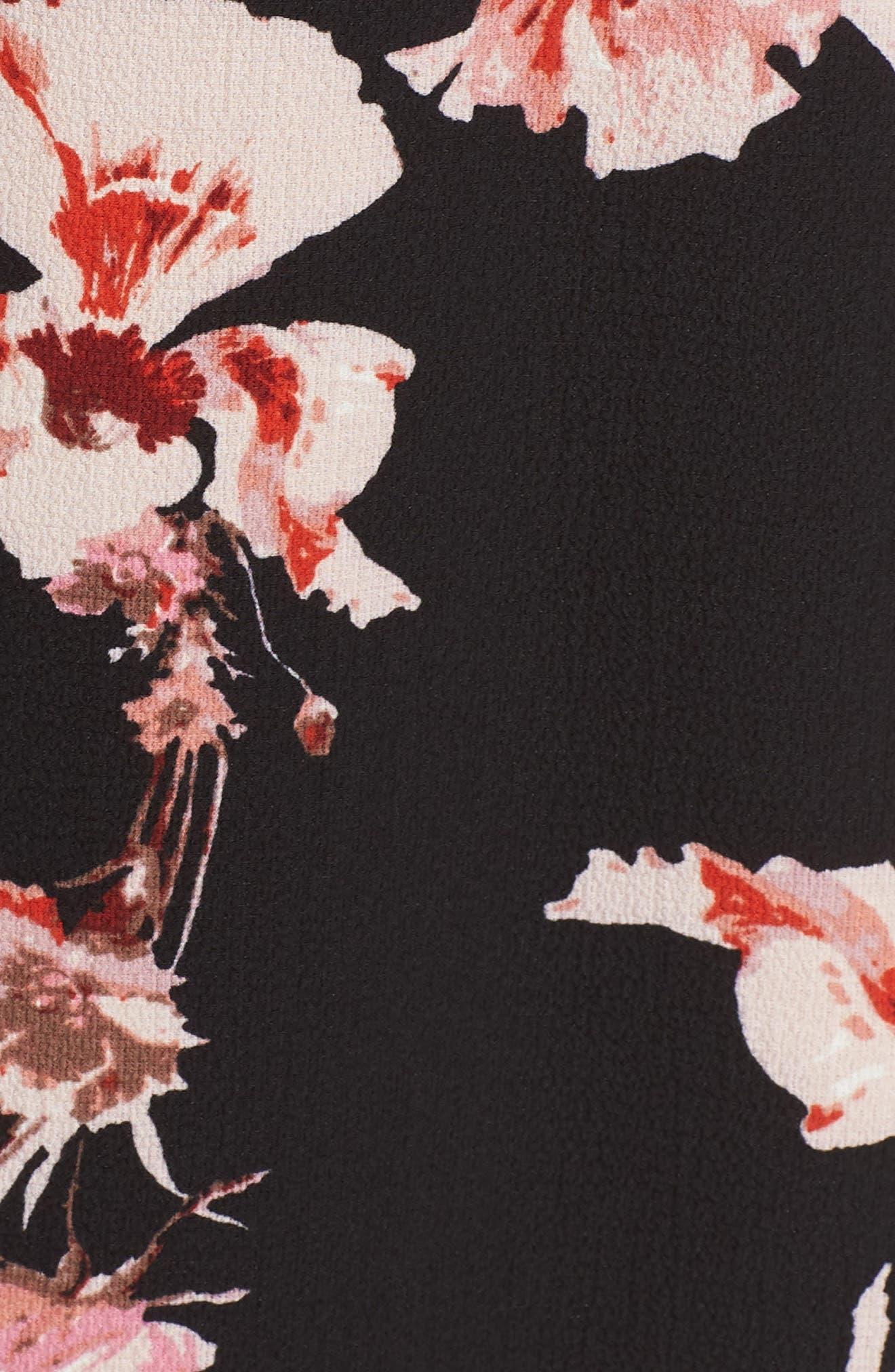 BB DAKOTA,                             Wait Until Dark Floral Dress,                             Alternate thumbnail 6, color,                             001