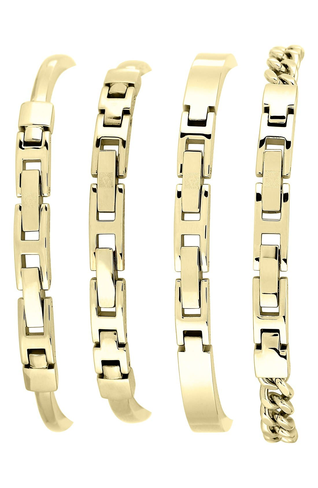 Round Watch & Bangle Set, 32mm,                             Alternate thumbnail 3, color,                             GOLD/ BLACK