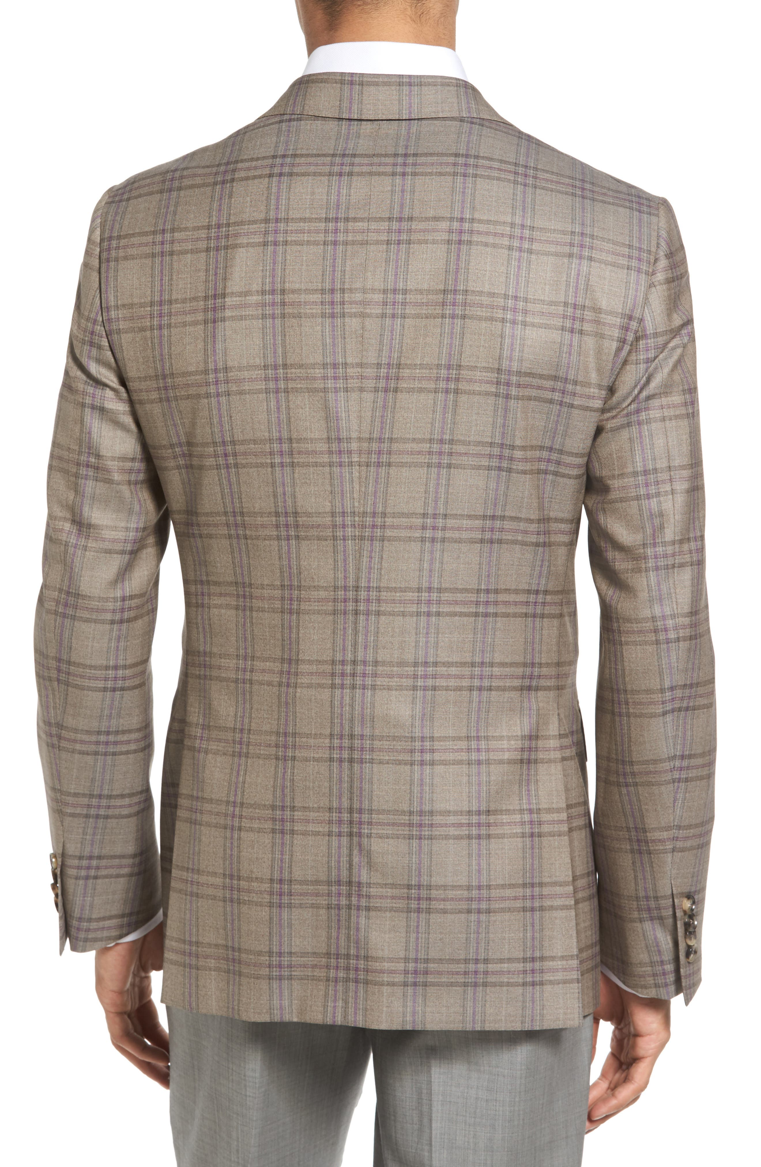 Classic Fit Plaid Wool Sport Coat,                             Alternate thumbnail 2, color,                             249