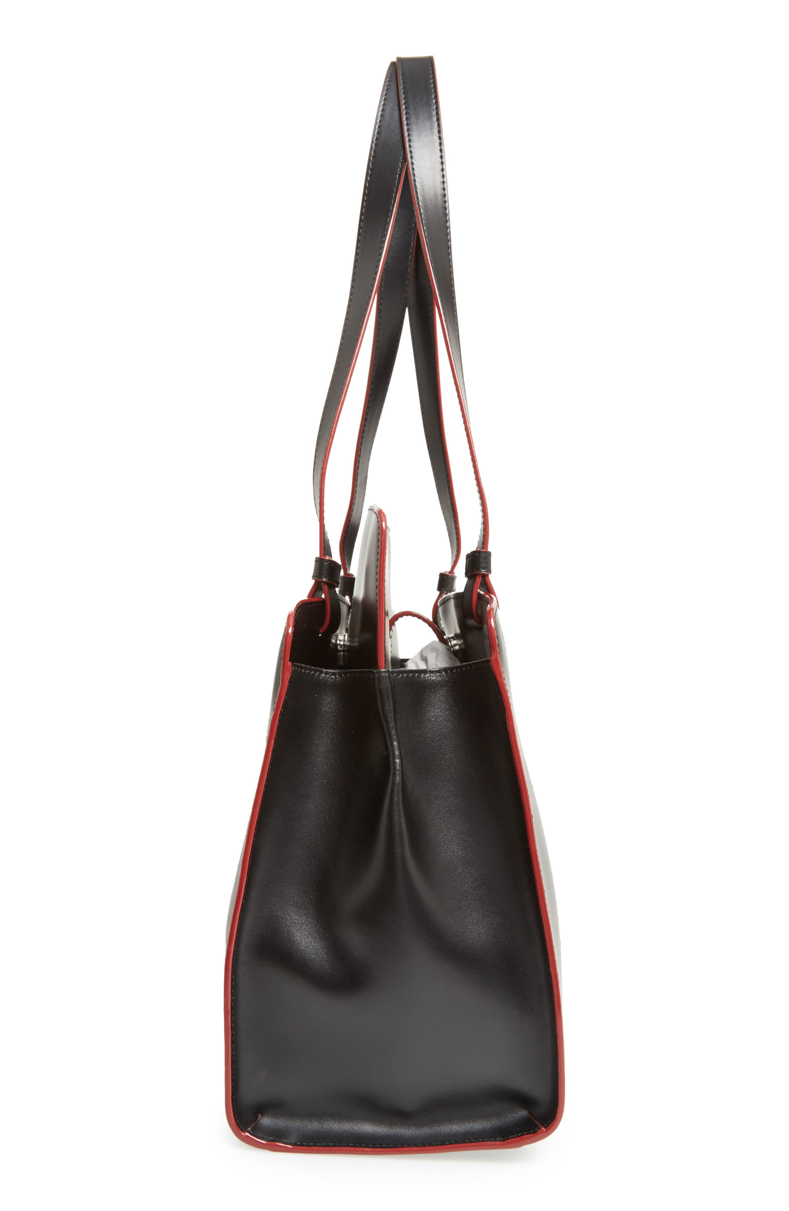 Lodis Audrey Collection - Jana Leather Tote,                             Alternate thumbnail 5, color,                             001