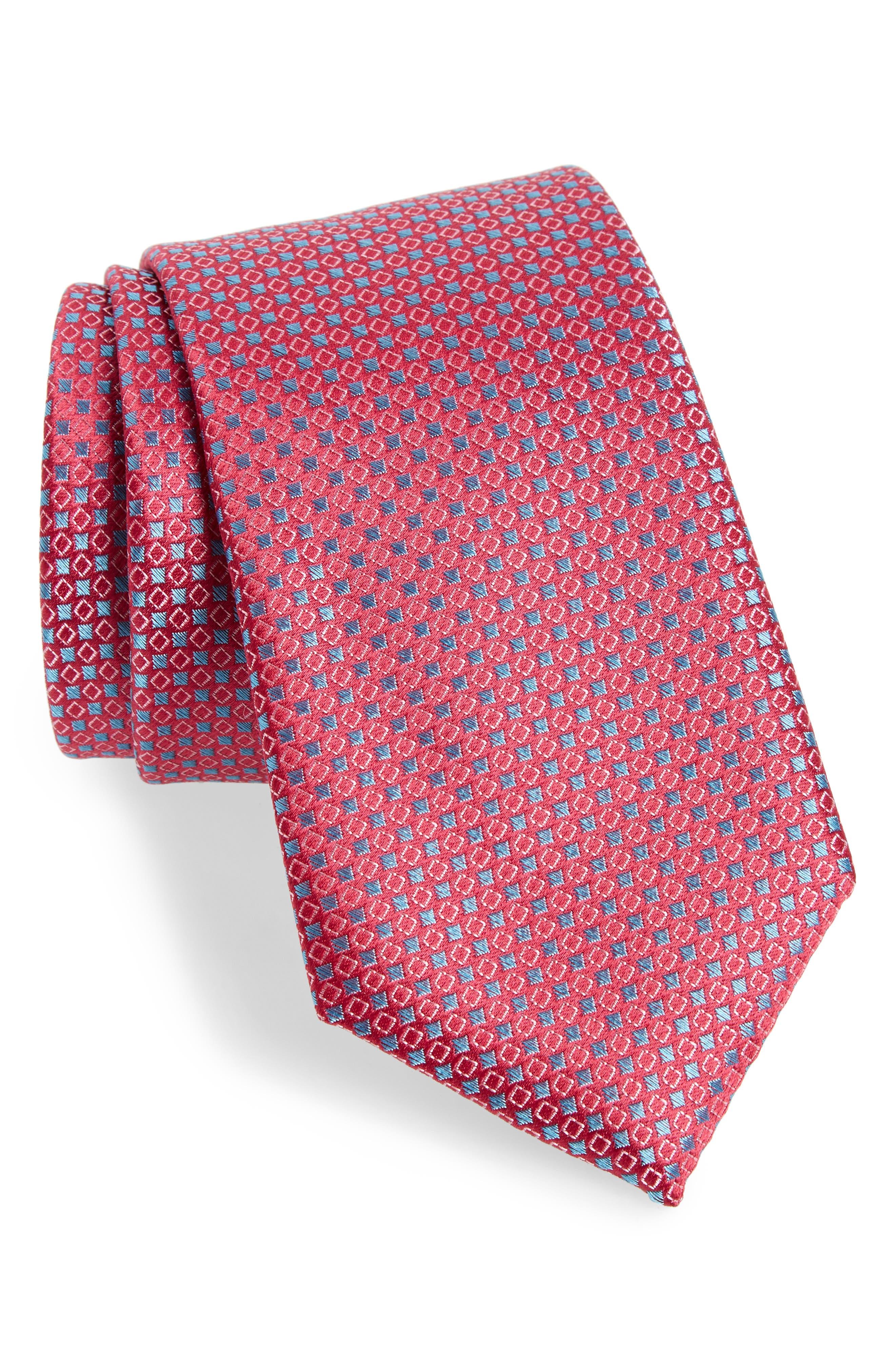 Chad Microdot Silk Tie,                             Main thumbnail 8, color,