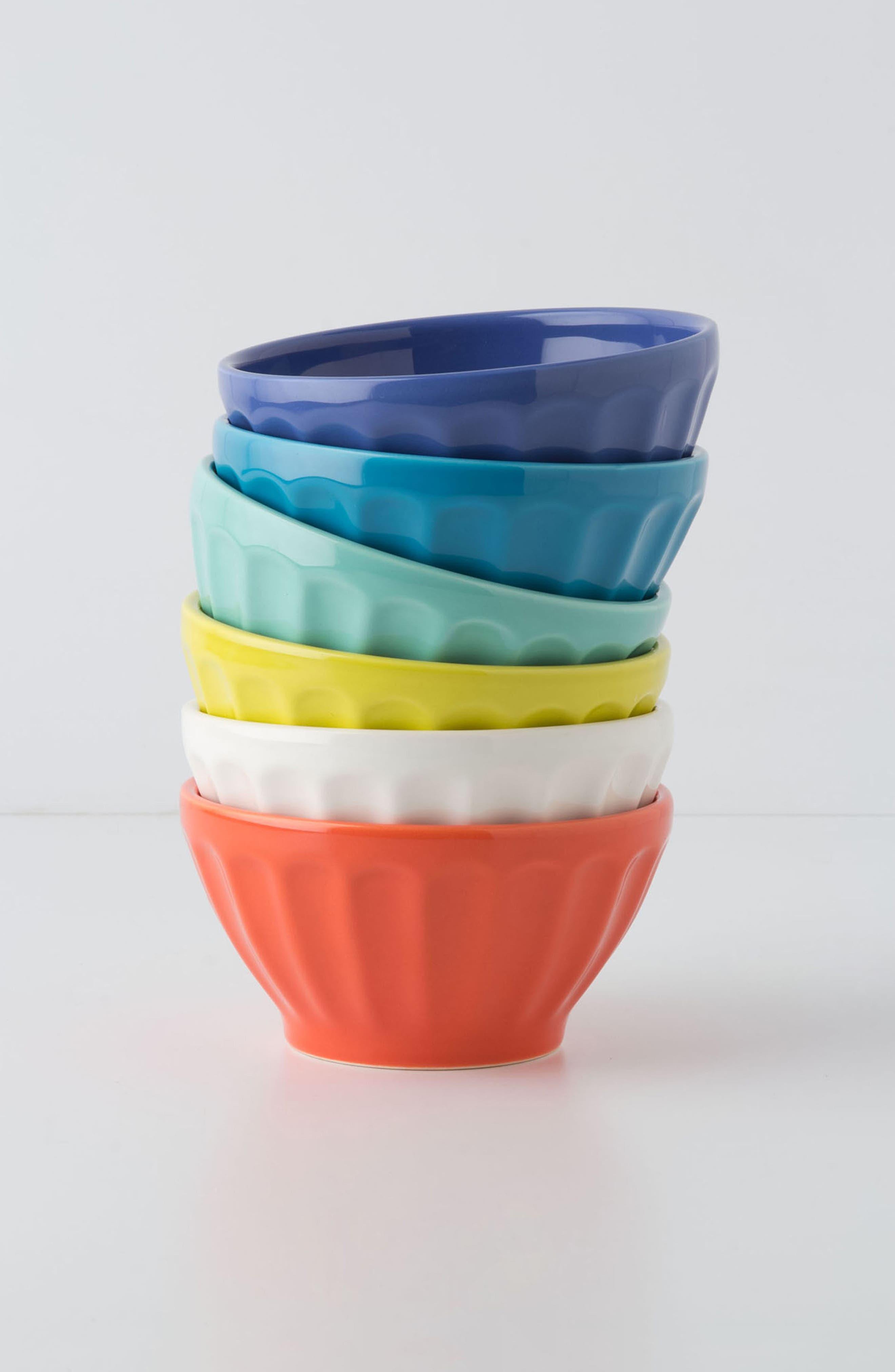 Set of 6 Latte Bowls,                         Main,                         color, CITRUS