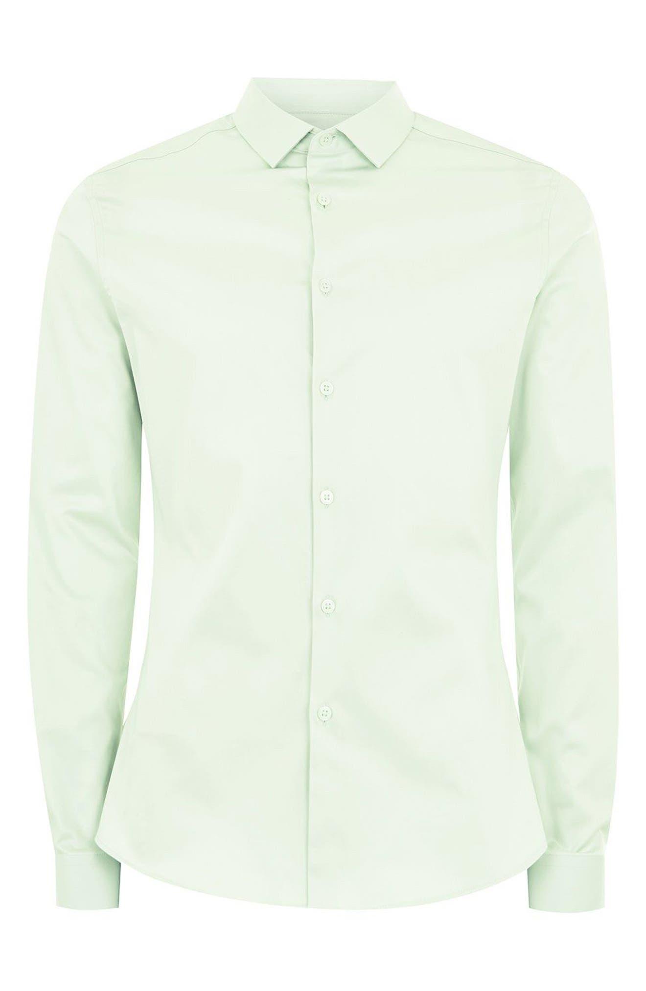 Stretch Cotton Shirt,                             Alternate thumbnail 3, color,                             330