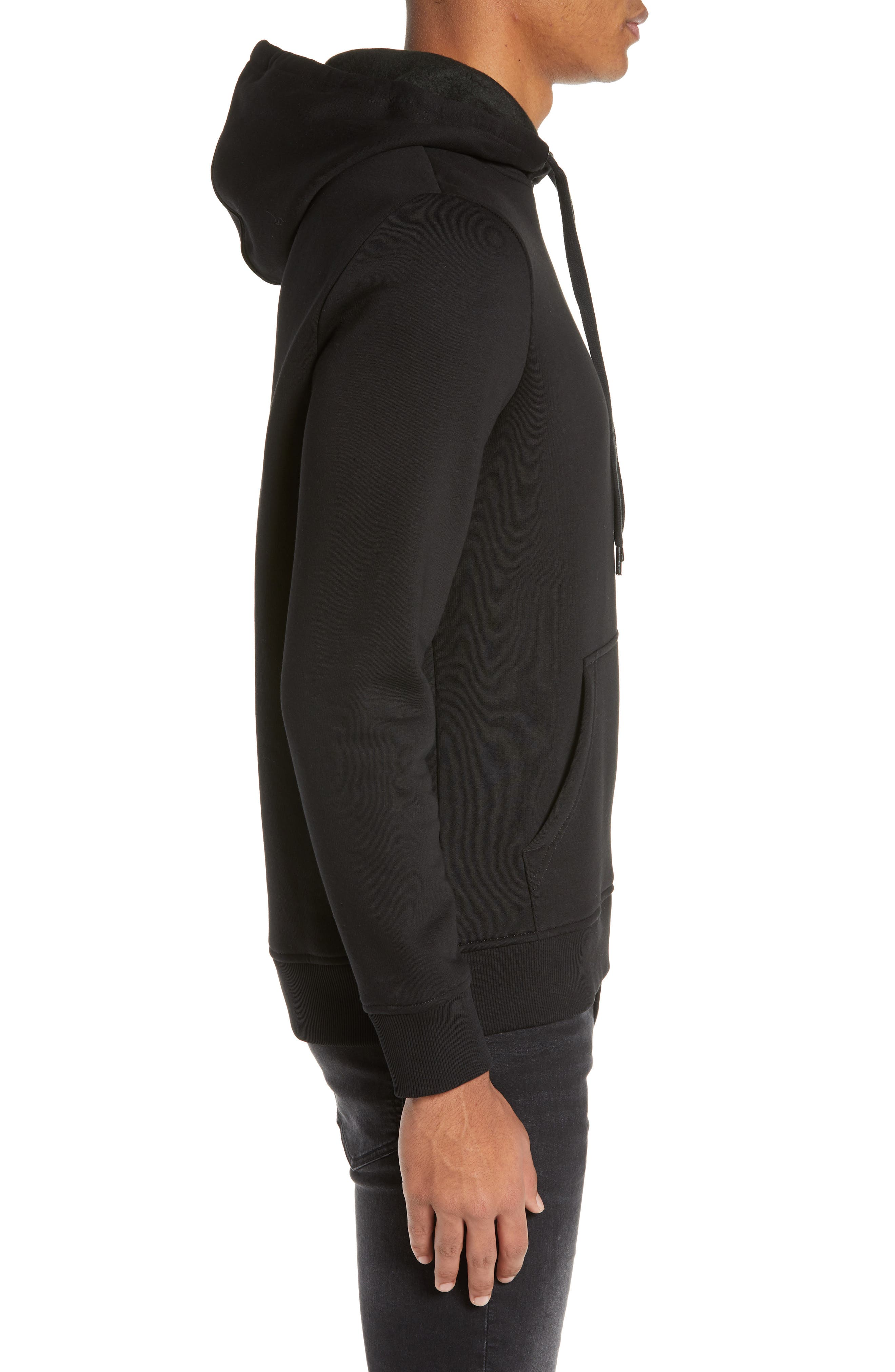 CALVIN KLEIN JEANS,                             Stacked Logo Hoodie,                             Alternate thumbnail 3, color,                             010