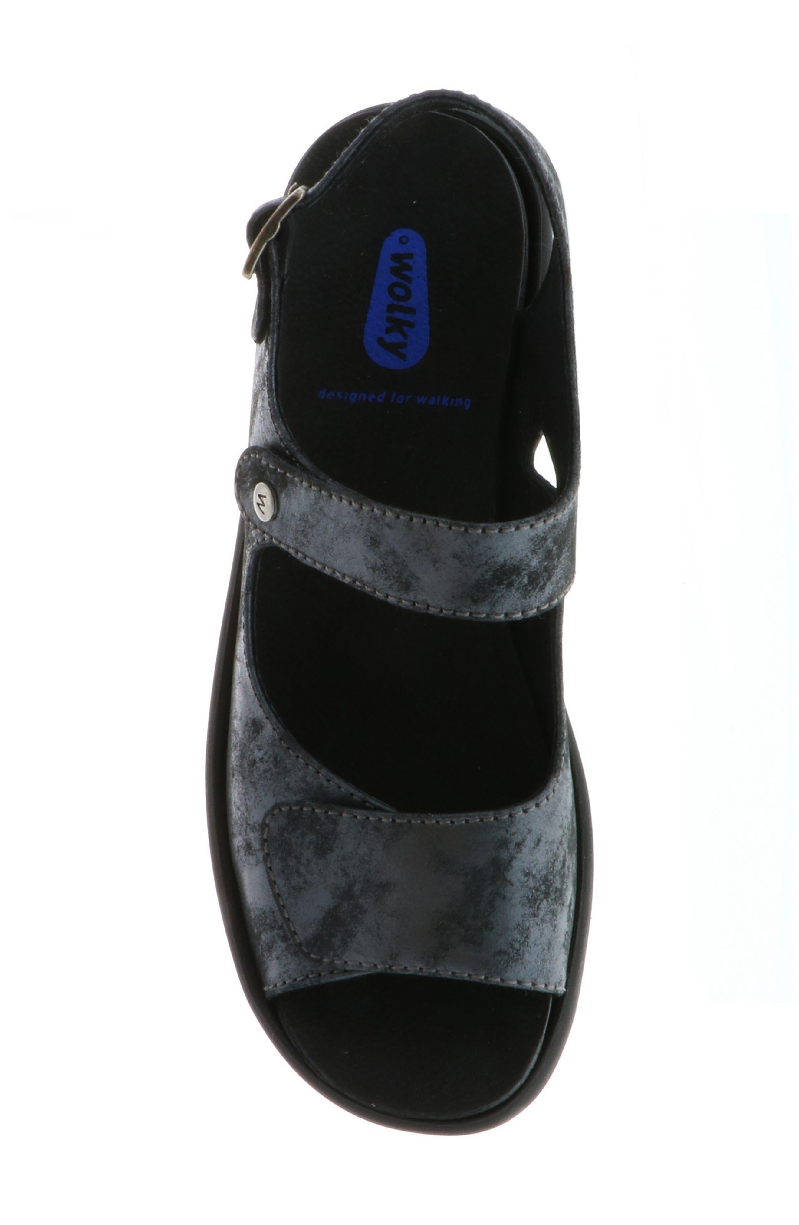Scala Sandal,                             Alternate thumbnail 5, color,                             BLACK NUBUCK
