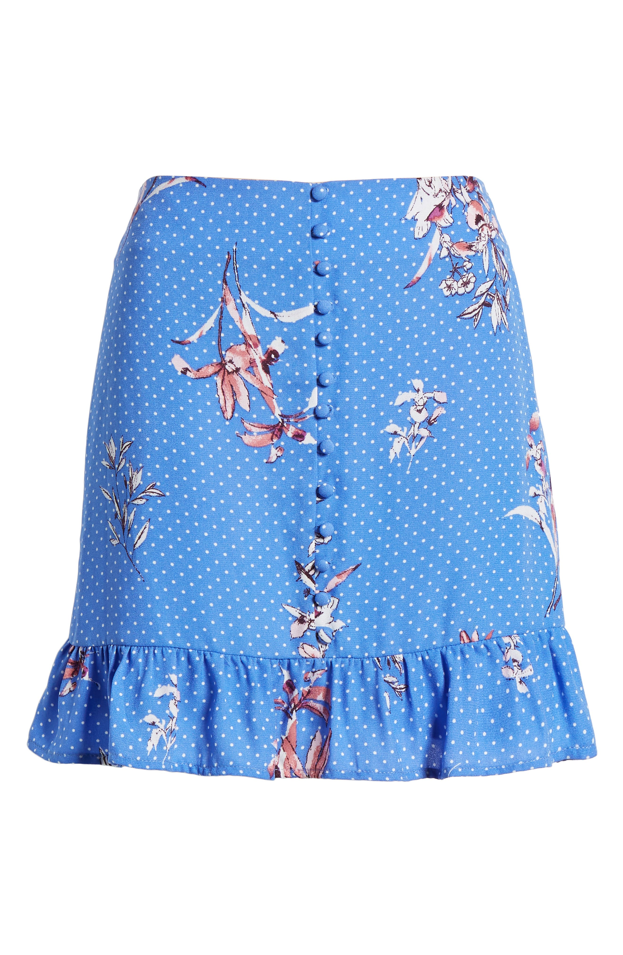 Vanessa Ruffle Hem Skirt,                             Alternate thumbnail 6, color,                             430