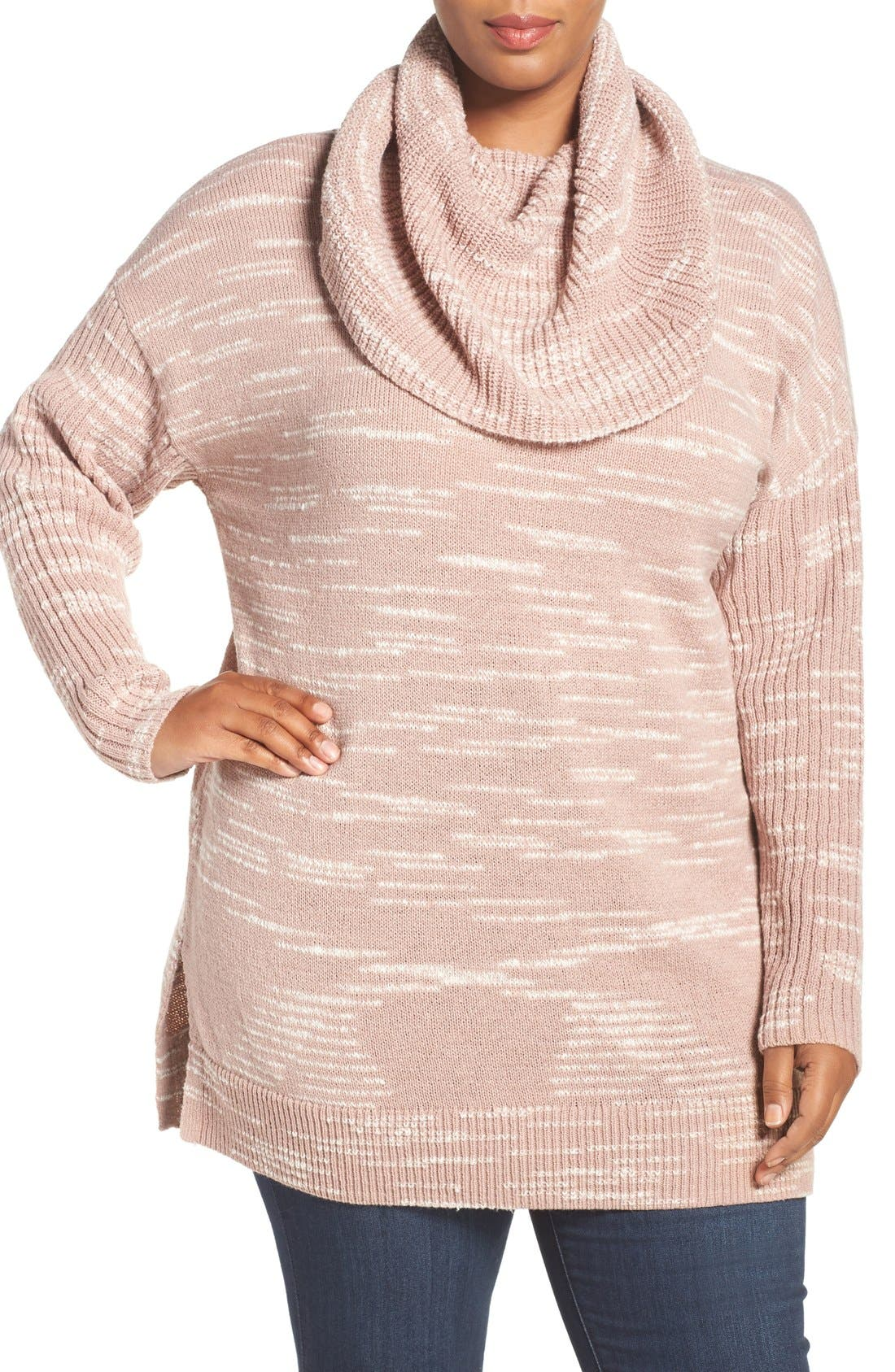 Cowl Neck Tunic Sweater,                             Main thumbnail 8, color,