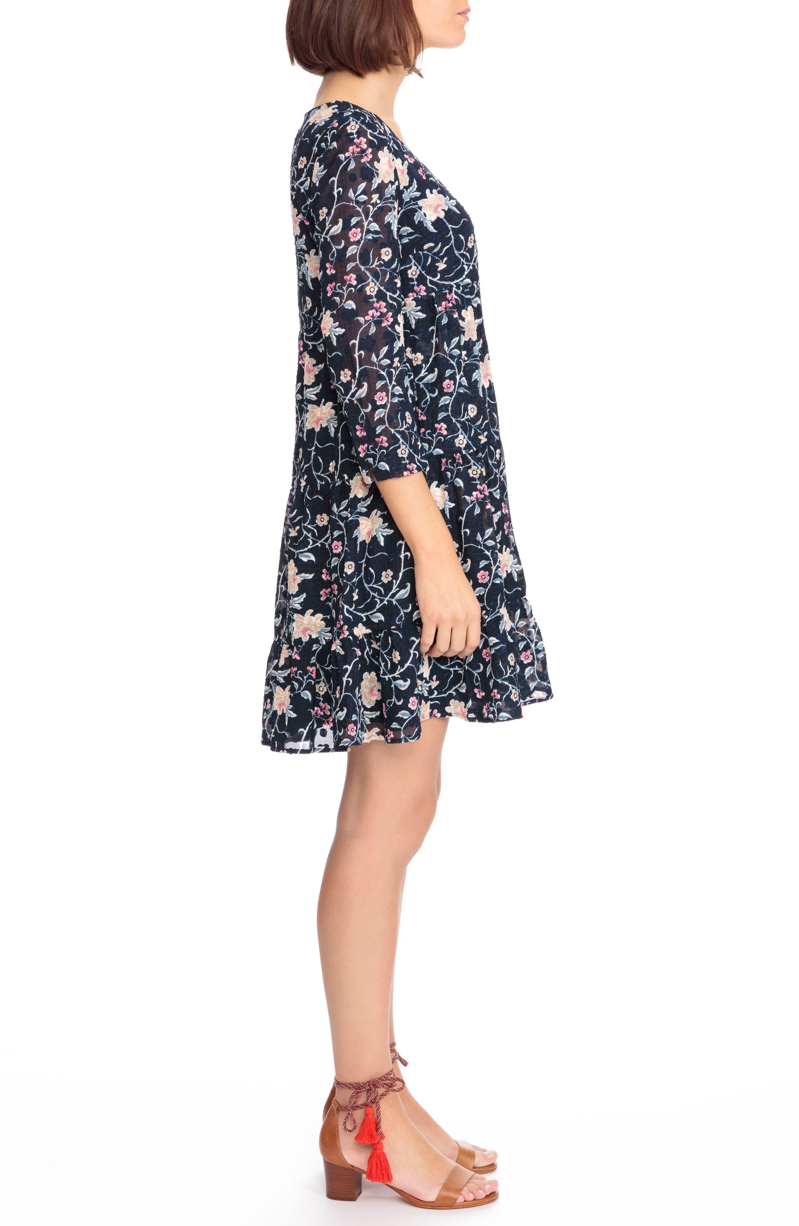 Aure Silk A-Line Dress,                             Alternate thumbnail 8, color,