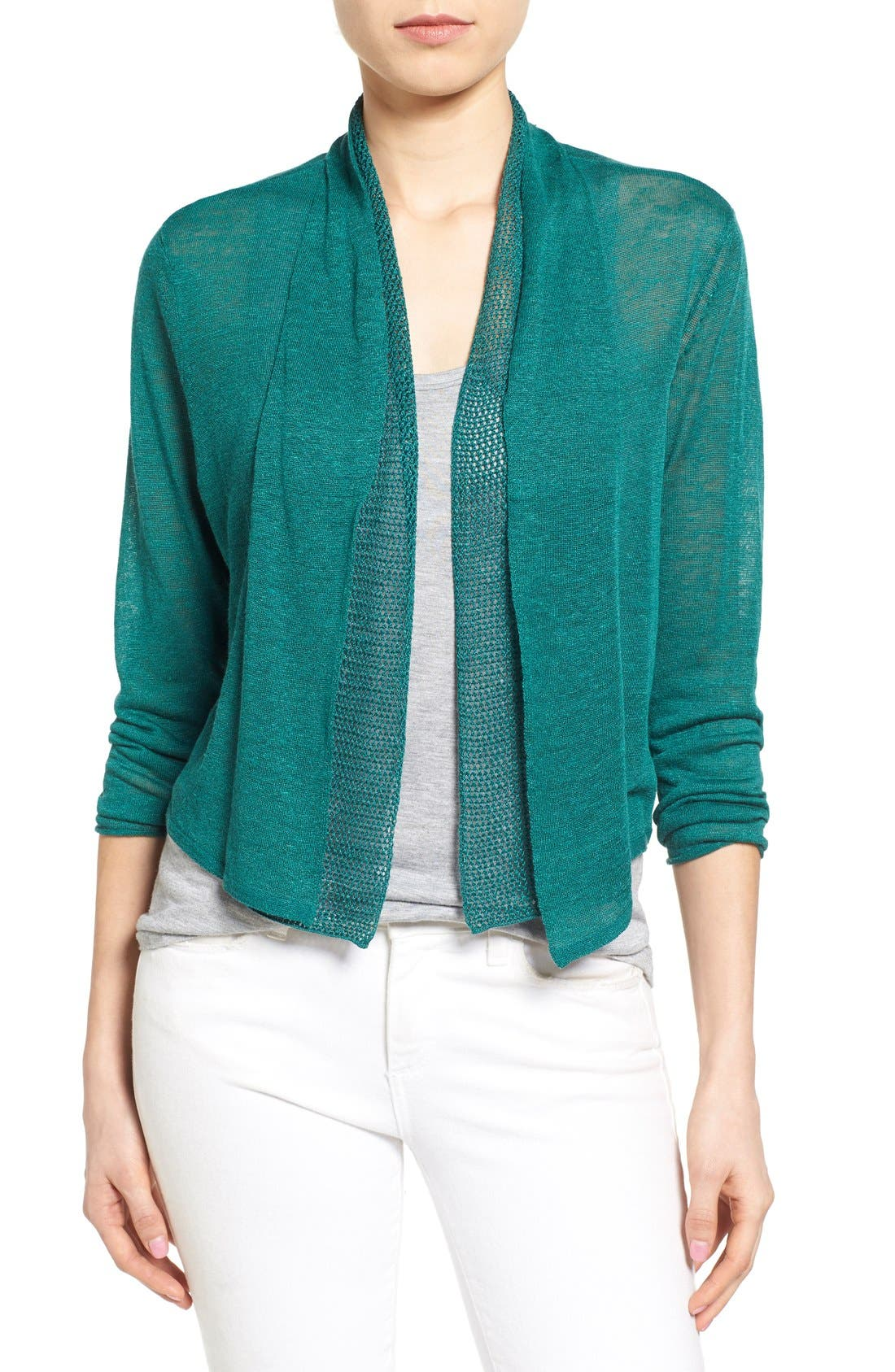 'Simply Sweet' Open Front Cardigan,                         Main,                         color, 366
