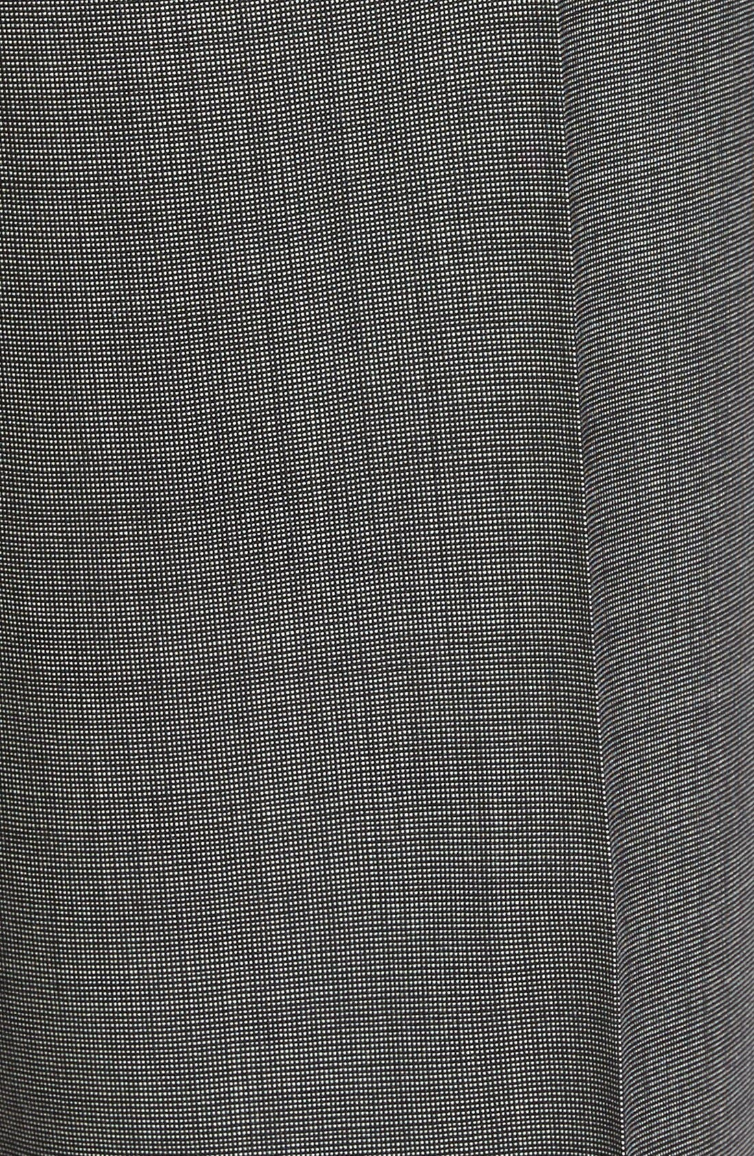 Jefferson Flat Front Solid Wool Trousers,                             Alternate thumbnail 5, color,                             020