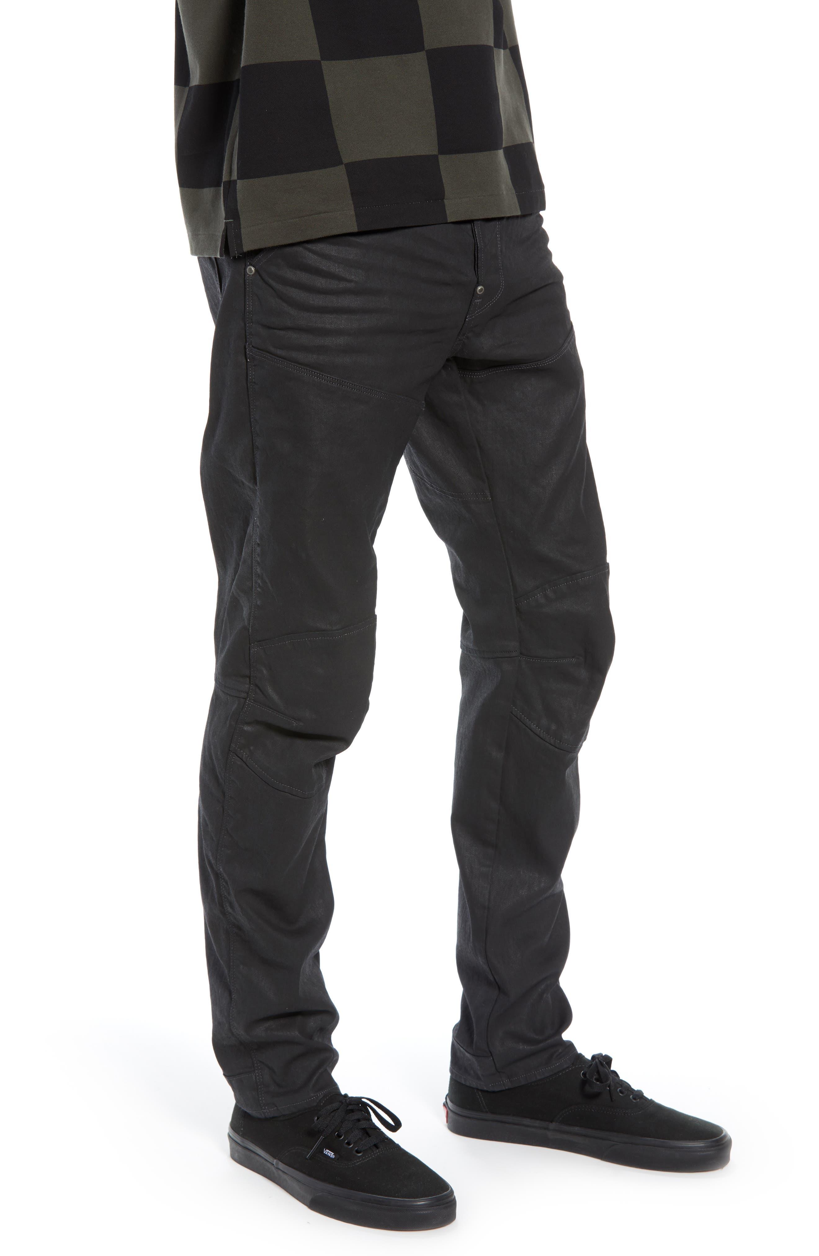 3D Coated Slim Jeans,                             Alternate thumbnail 3, color,                             3D DARK AGED