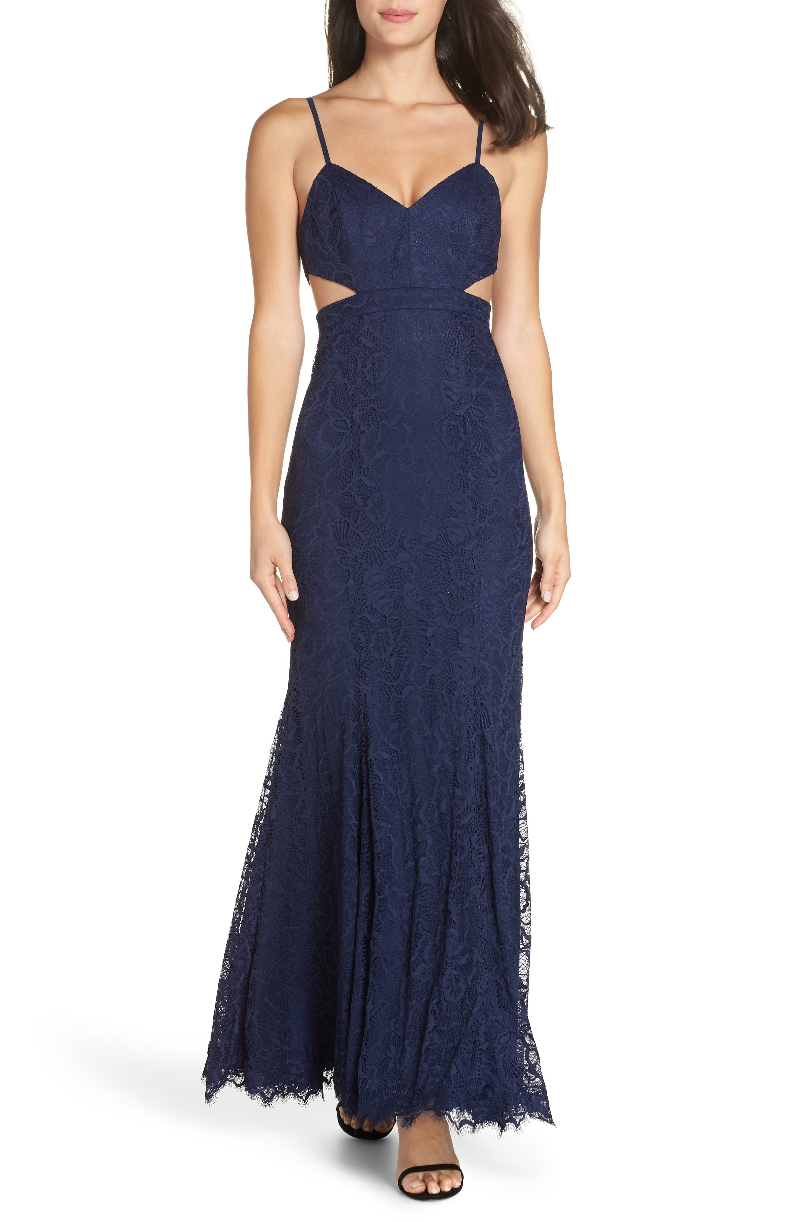 Fame And Partners The Dorsey Gown, Blue