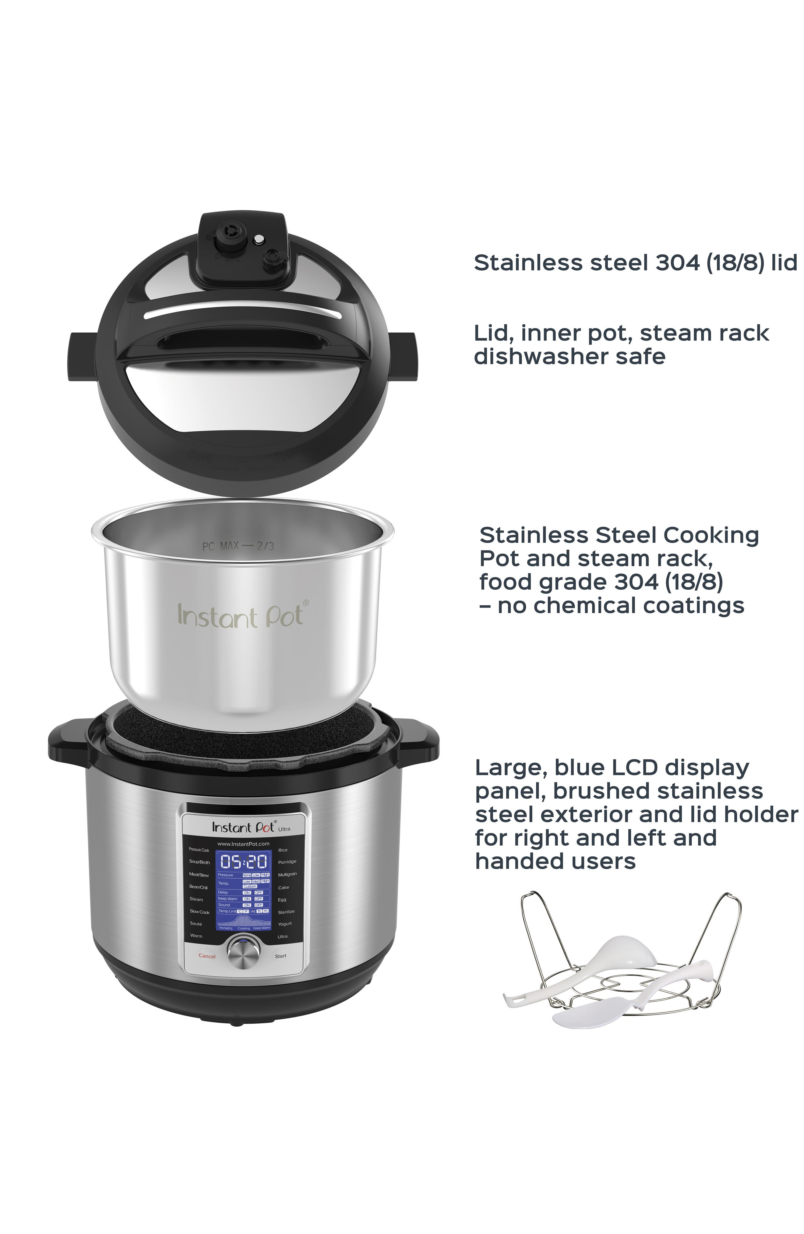 Ultra 8-Quart 10-in-1 Multiuse Programmable Cooker,                             Alternate thumbnail 4, color,                             SILVER