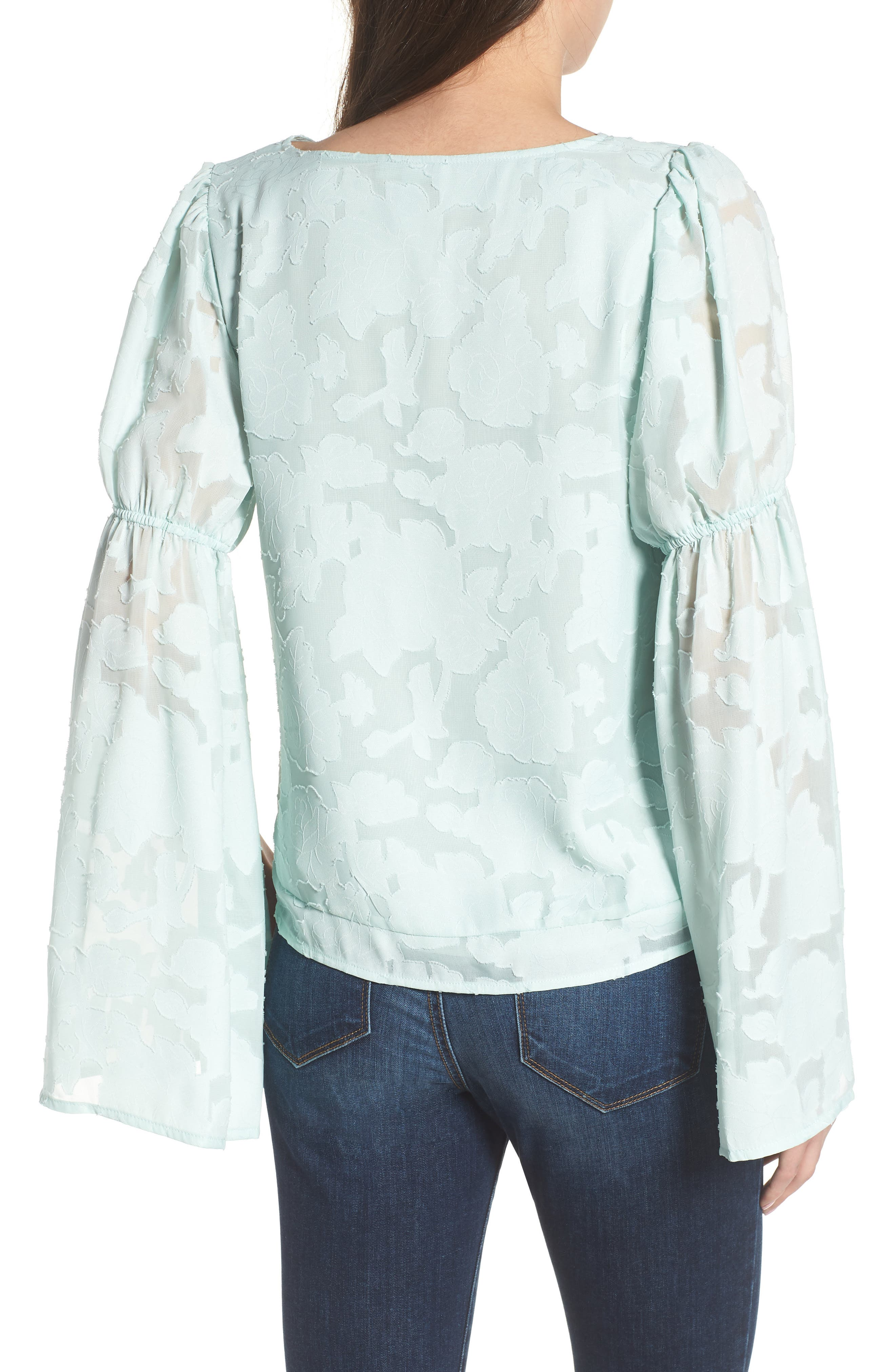 Puff Flared Sleeve Blouse,                             Alternate thumbnail 2, color,                             445