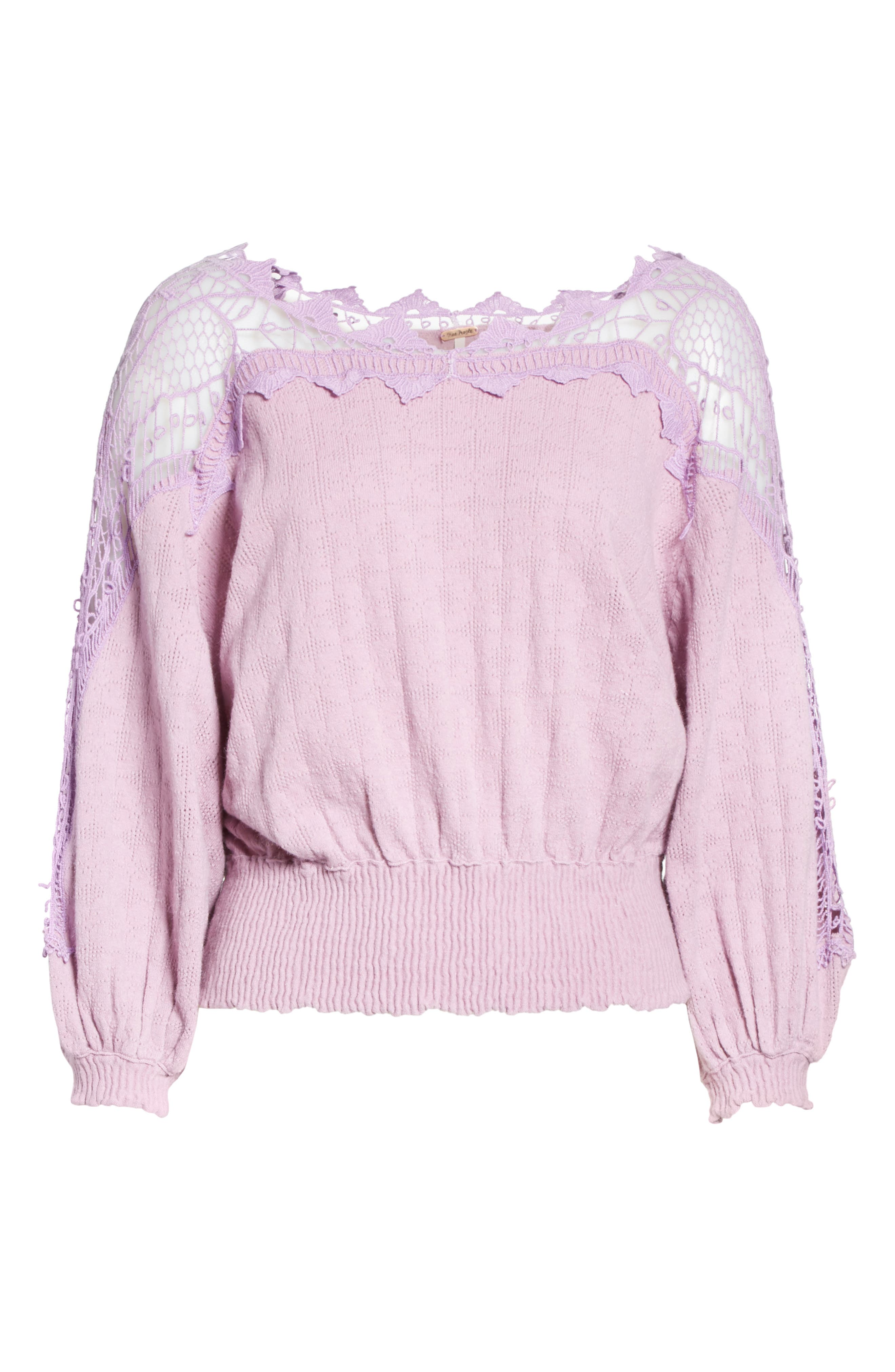 Love Lace Sweater,                             Alternate thumbnail 6, color,                             531