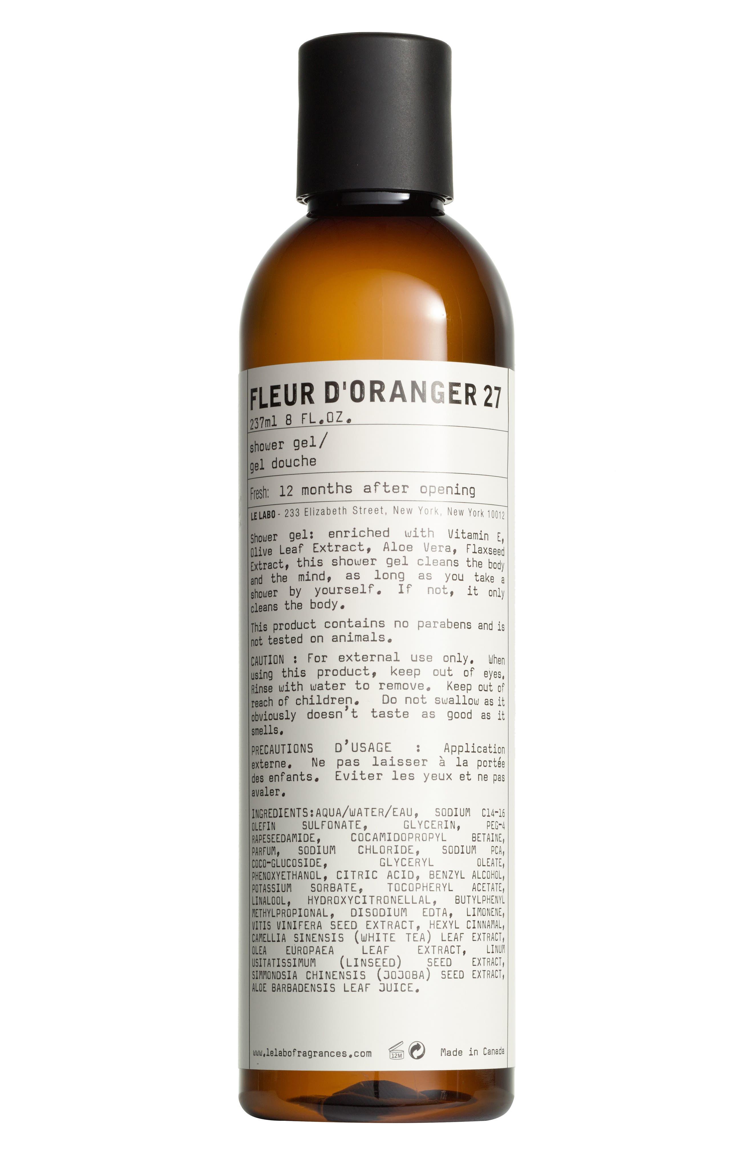 Le Labo Fleur D Oranger 27 Shower Gel Nordstrom