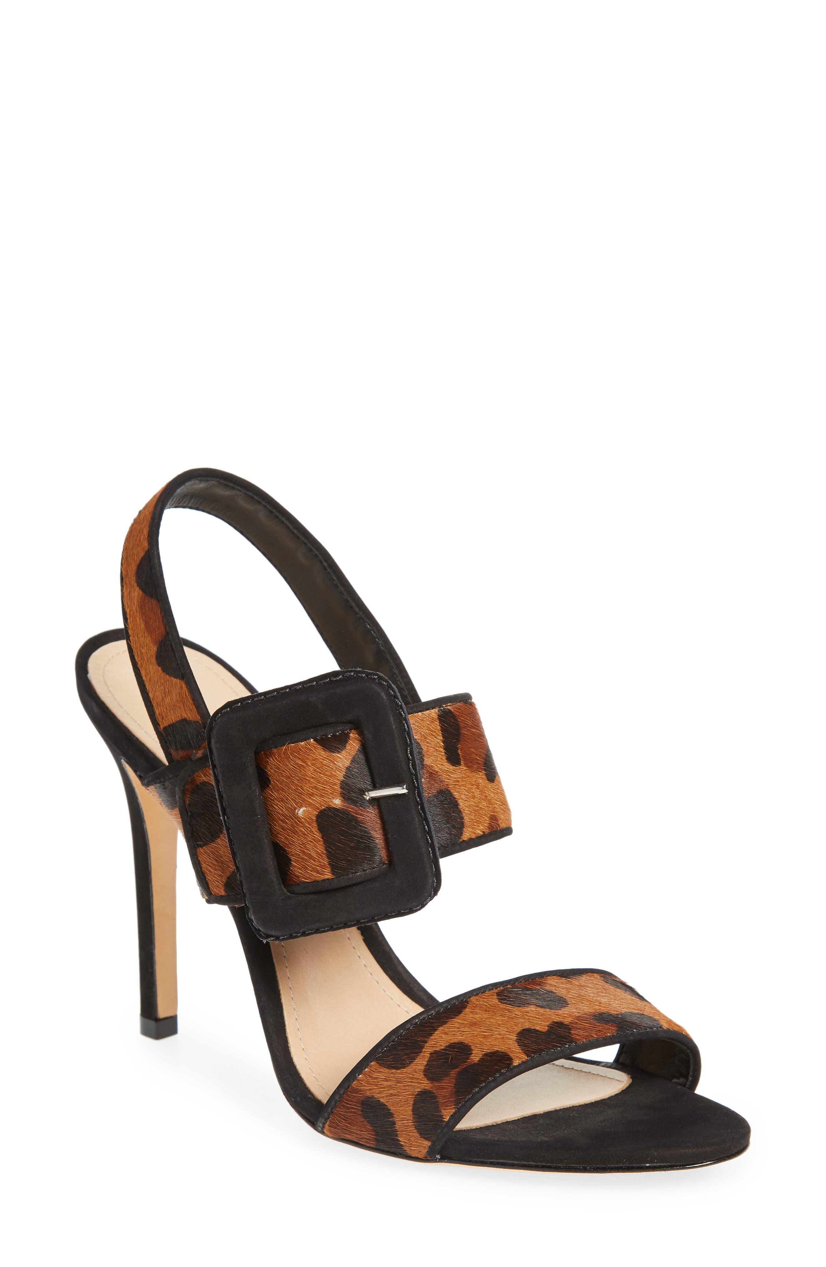 Lucci Genuine Calf Hair Sandal,                         Main,                         color, NATURAL/ BLACK