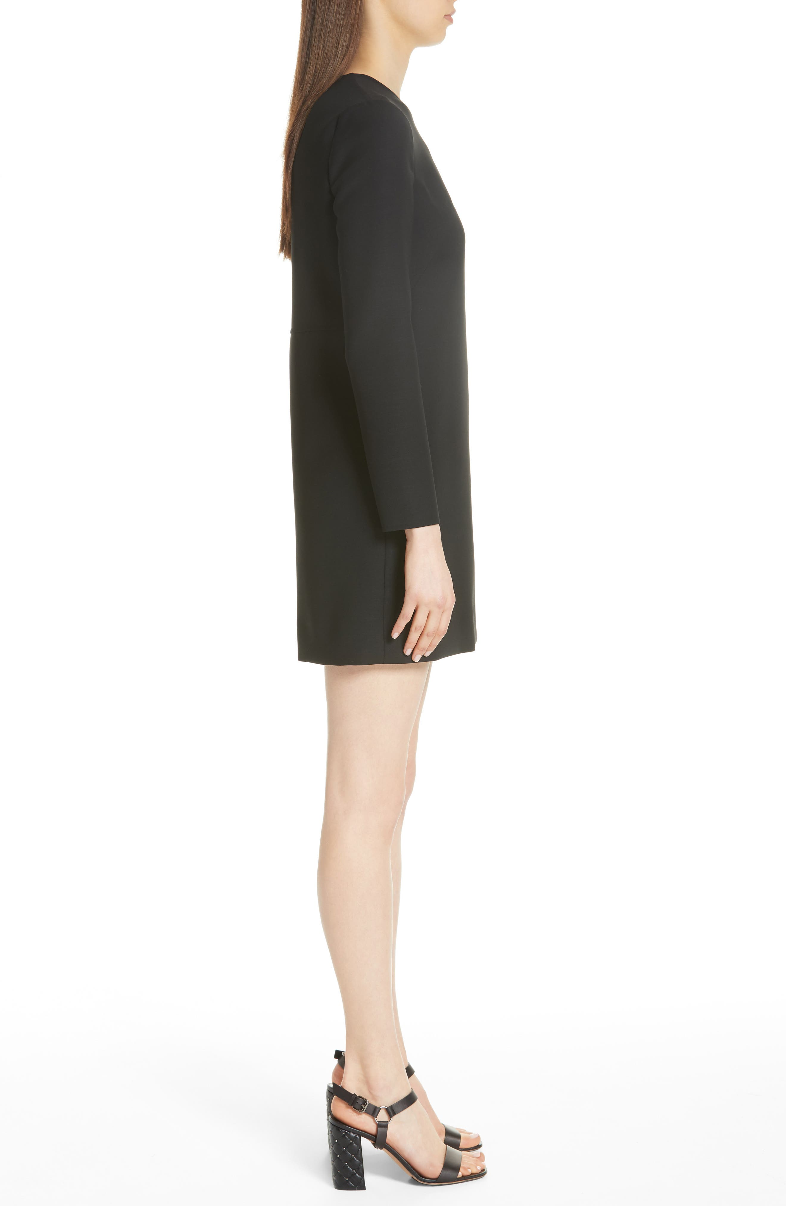 Very V Lace-Up Sleeve Dress,                             Alternate thumbnail 3, color,                             001