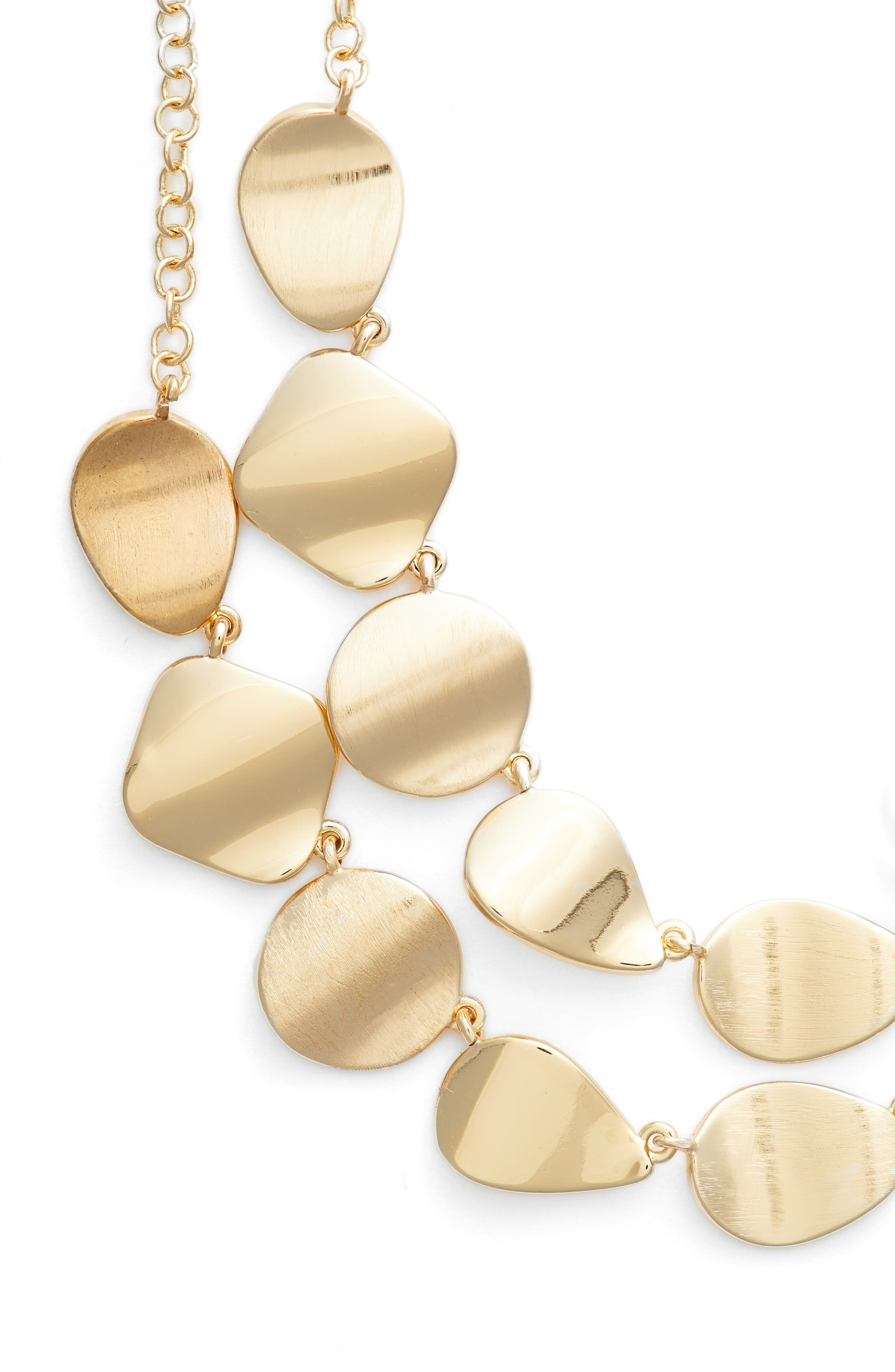Dual Strand Necklace,                             Main thumbnail 1, color,                             GOLD