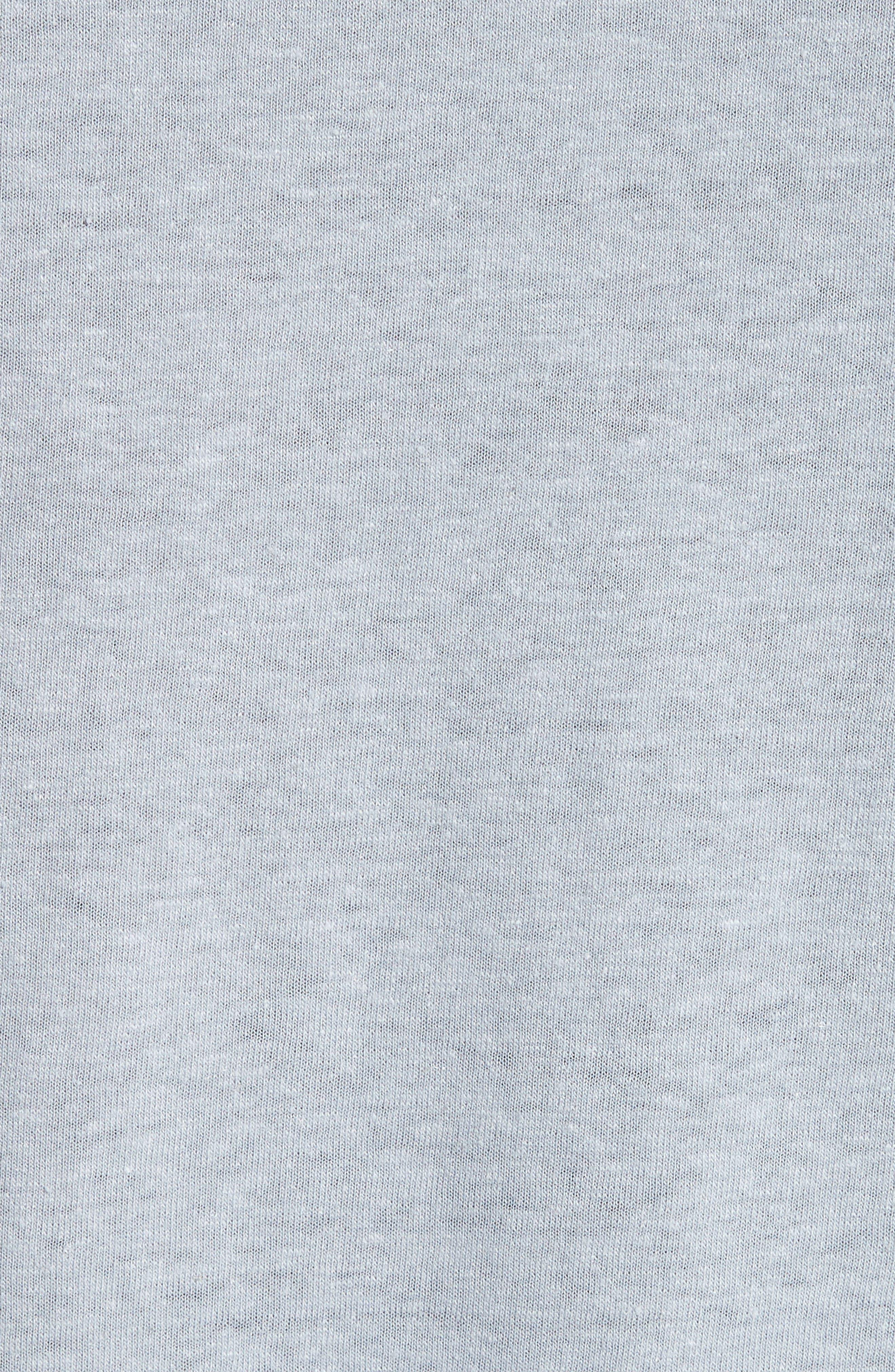 Chad Linen Blend Pocket T-Shirt,                             Alternate thumbnail 5, color,                             020
