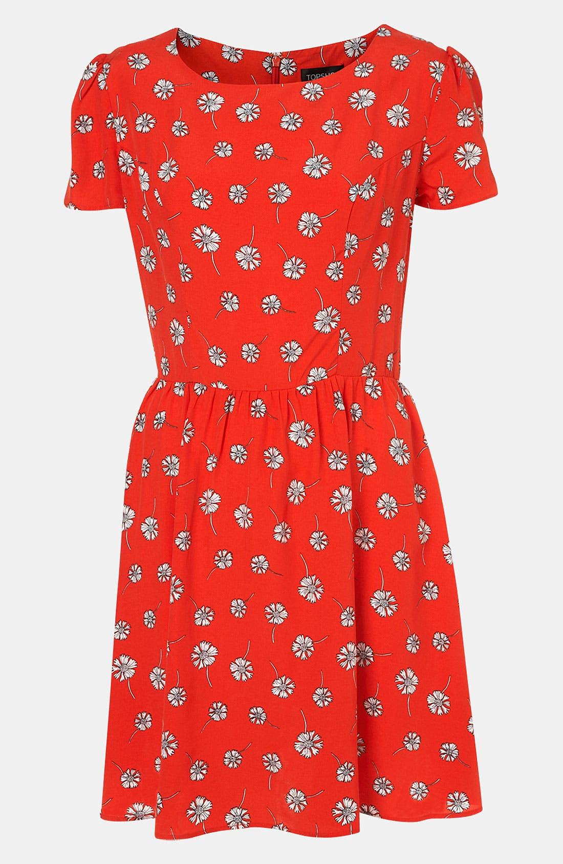 Daisy Print Dress,                         Main,                         color, 600