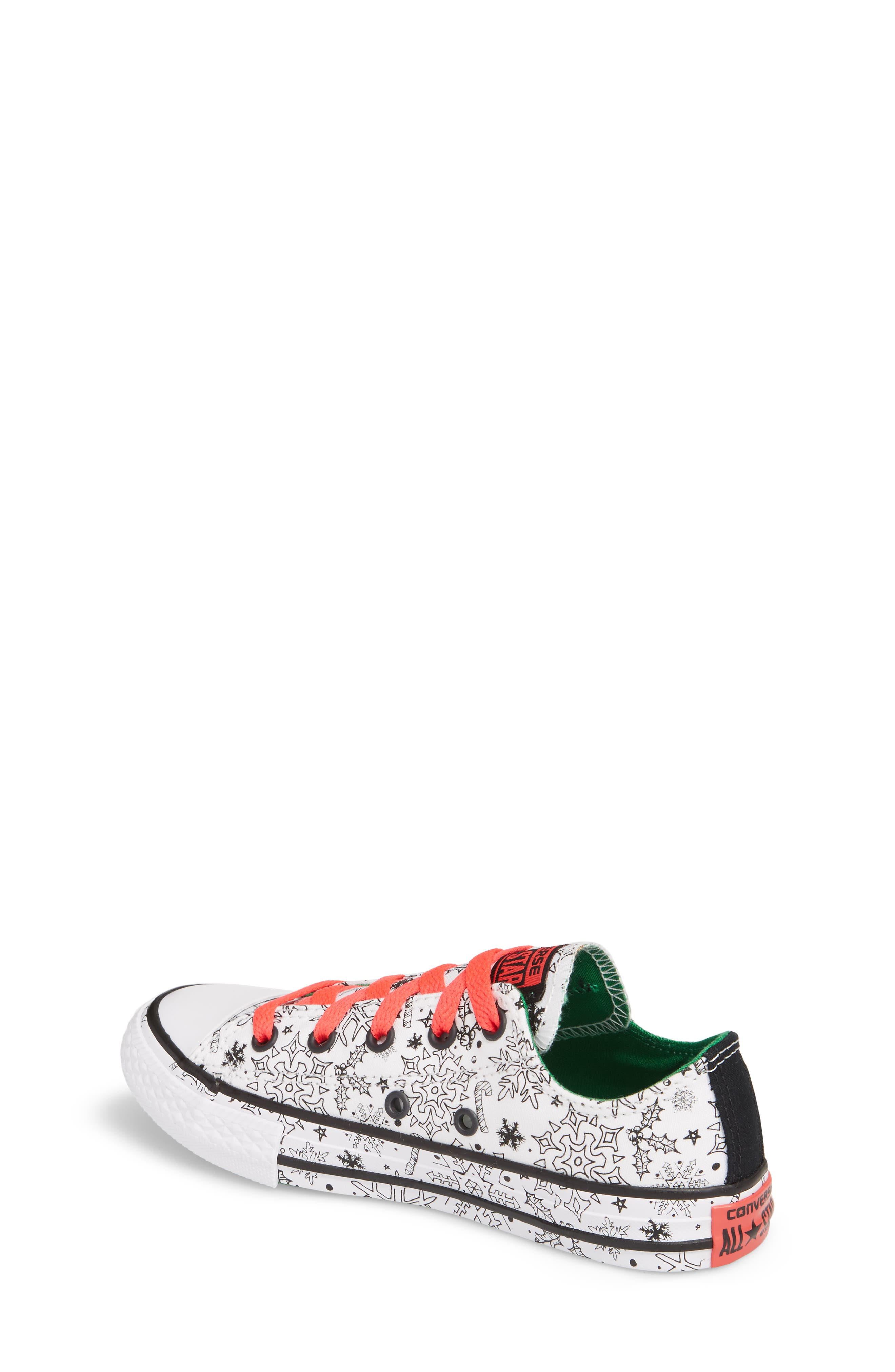 Chuck Taylor<sup>®</sup> All Star<sup>®</sup> Christmas Coloring Book Ox Sneaker,                             Alternate thumbnail 2, color,